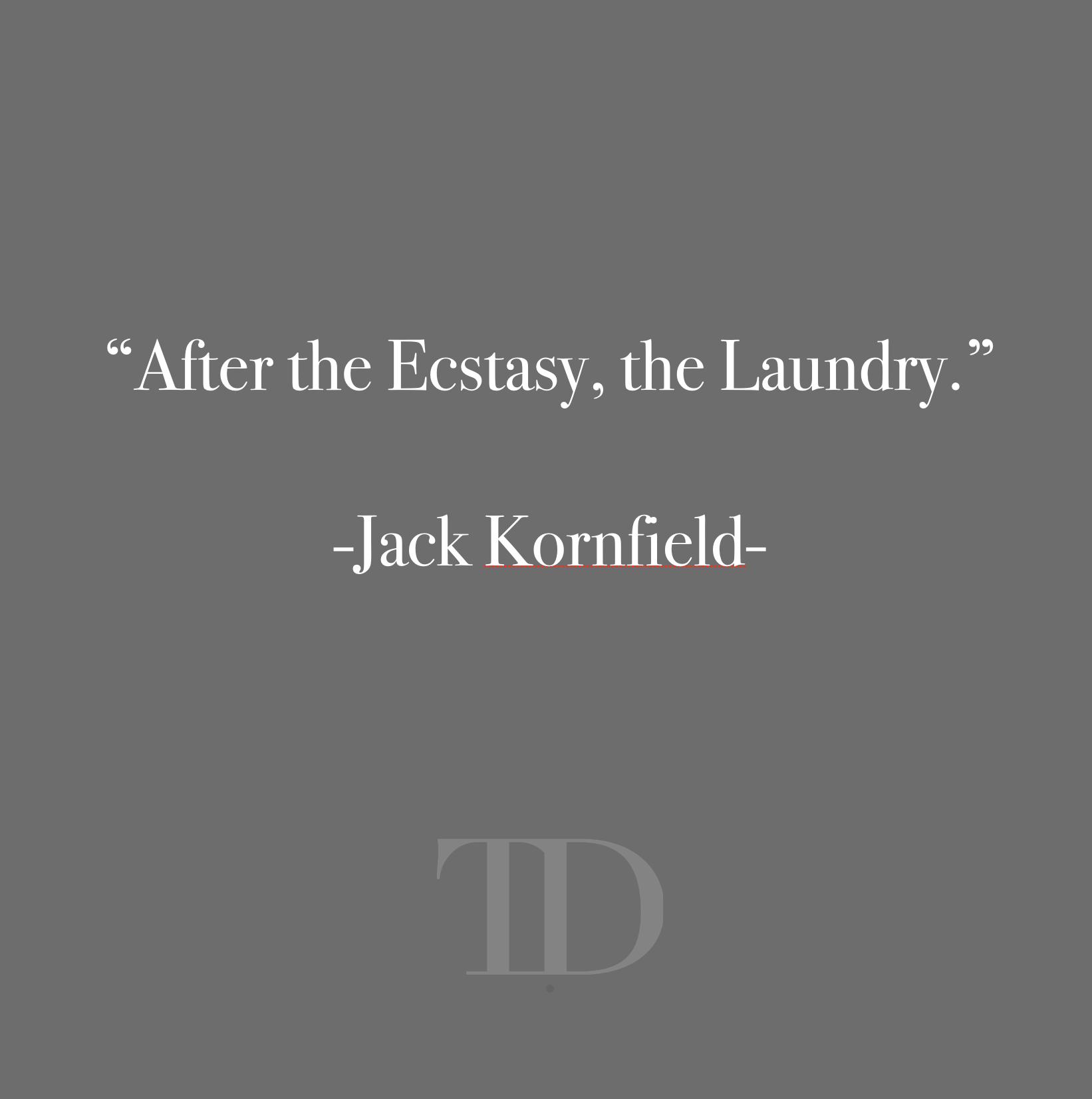 Jack Kornfield: After Ecstasy