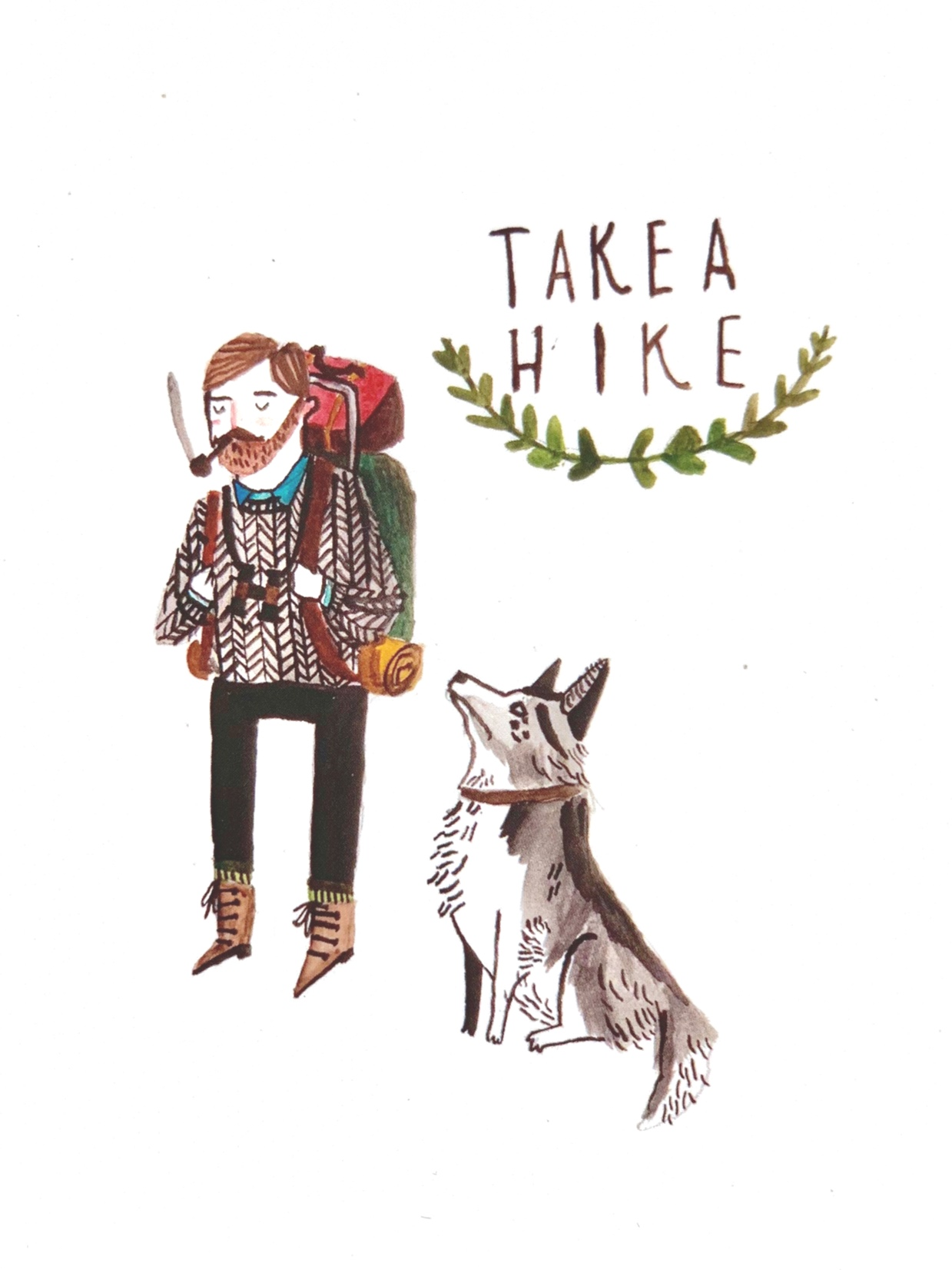 'Take a Hike' postcard, available in ÒR