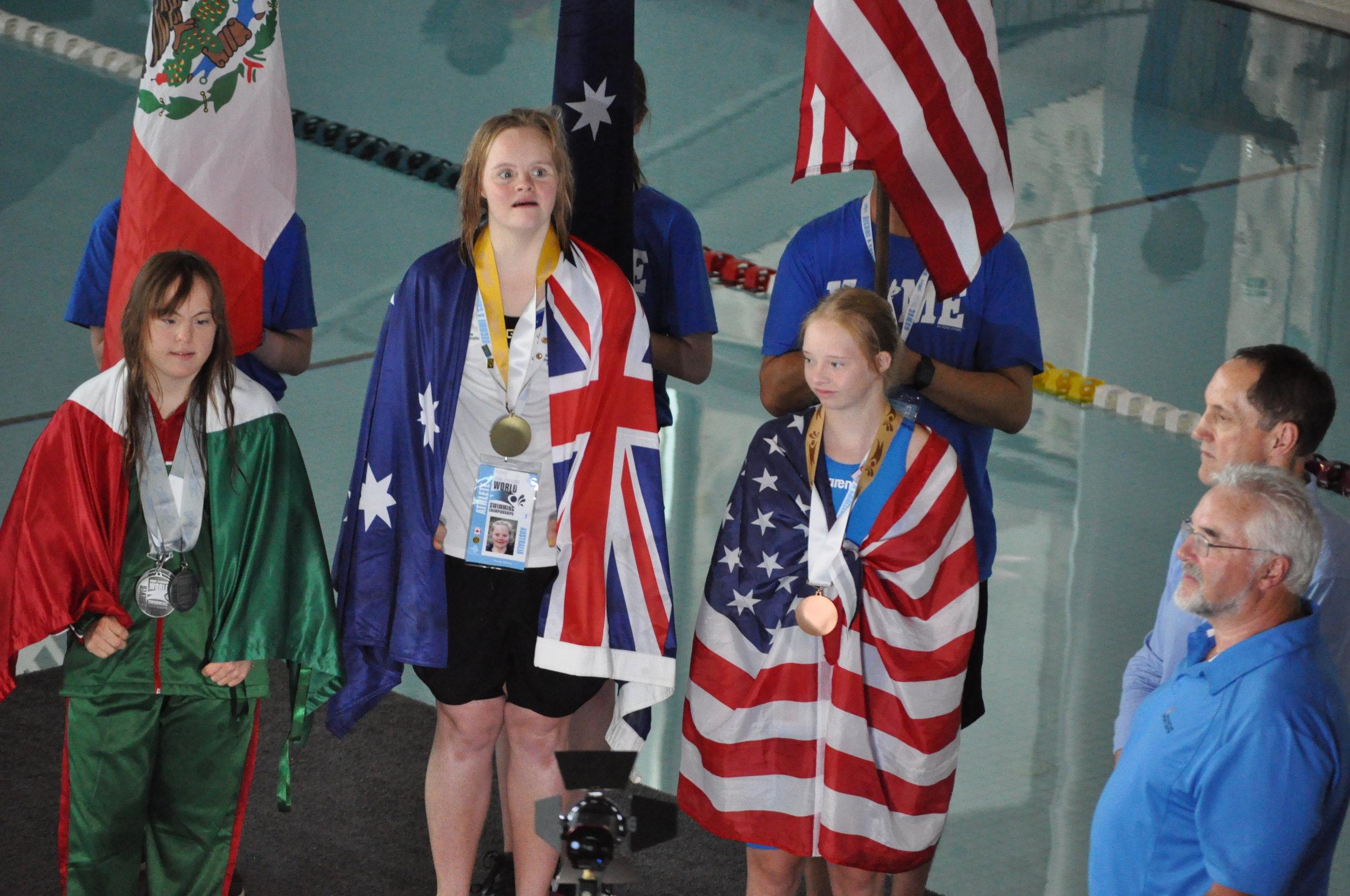 Maggie Scherder - Peoria, ILBRONZE - Women's 100 Back2018 DSISO World Swim Championships - Nova Scotia, Canada