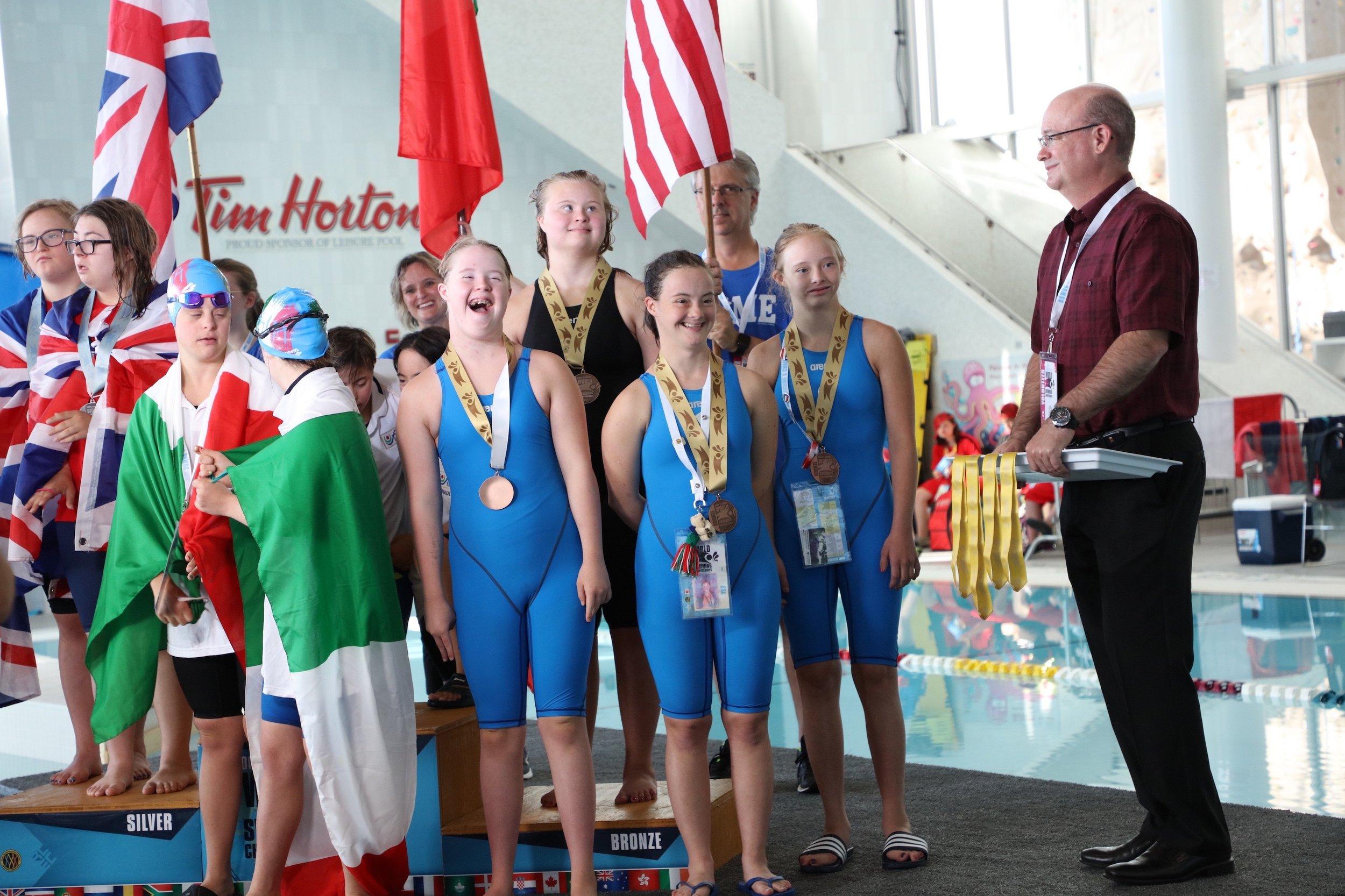Allison Van Hoesen, Katya Vazhenin, Mary Borman, Maggie Scherder - Blue Springs, MO, Larenceville, GA, Fayetteville, AK, & Peoria, ILBRONZE - Women's 200 Free Relay2018 DSISO World Swim Championships - Nova Scotia, Canada