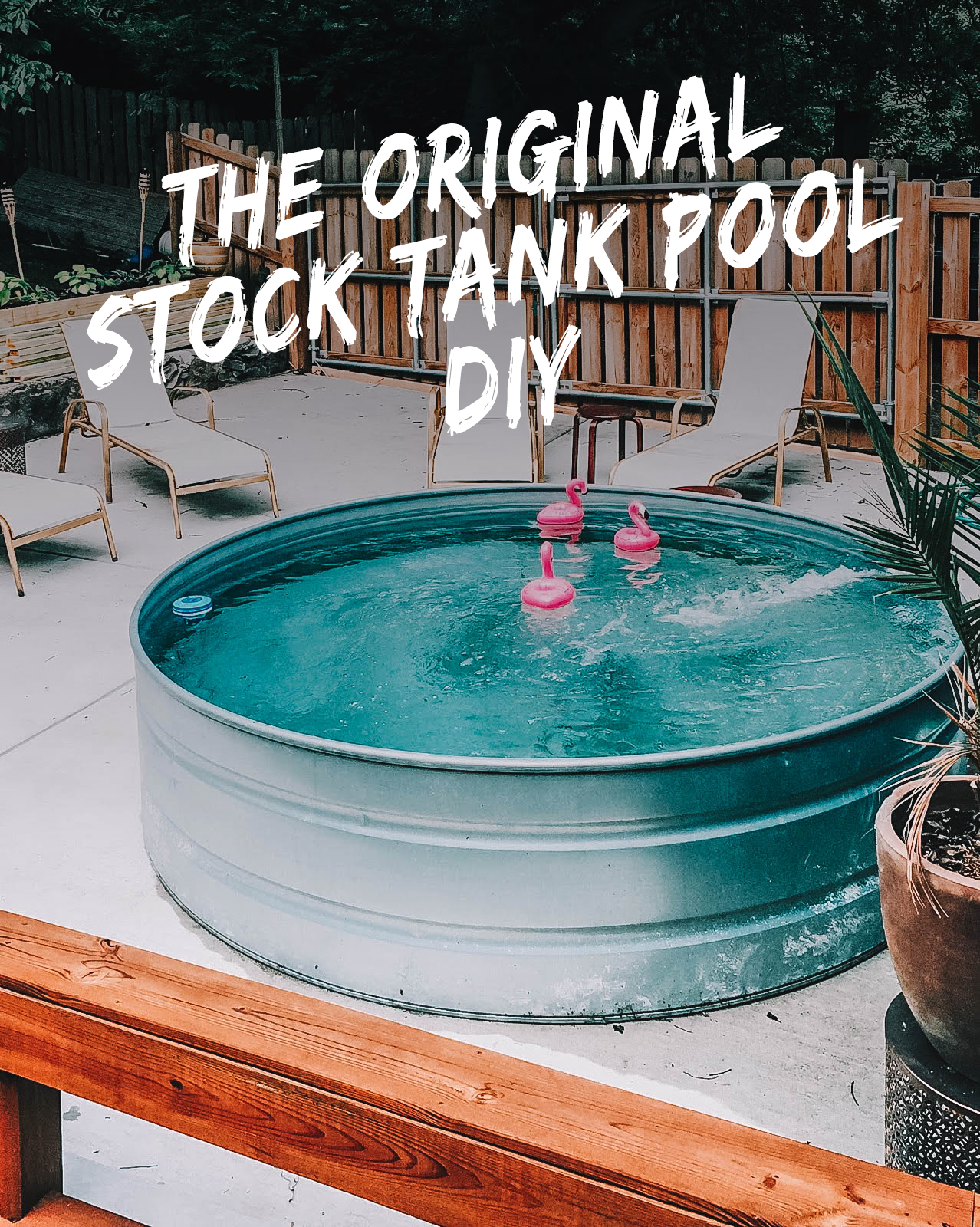 How To Set up your stock tank pool - The first and most important thing you need to do is set up your pool to filter water. If you don't set up a filter, you will spend your summer battling dirt, sediment, debris, and/or algae. If you would like a more hands-off approach for your stock tank pool maintenance, you'll want to follow this tutorial.
