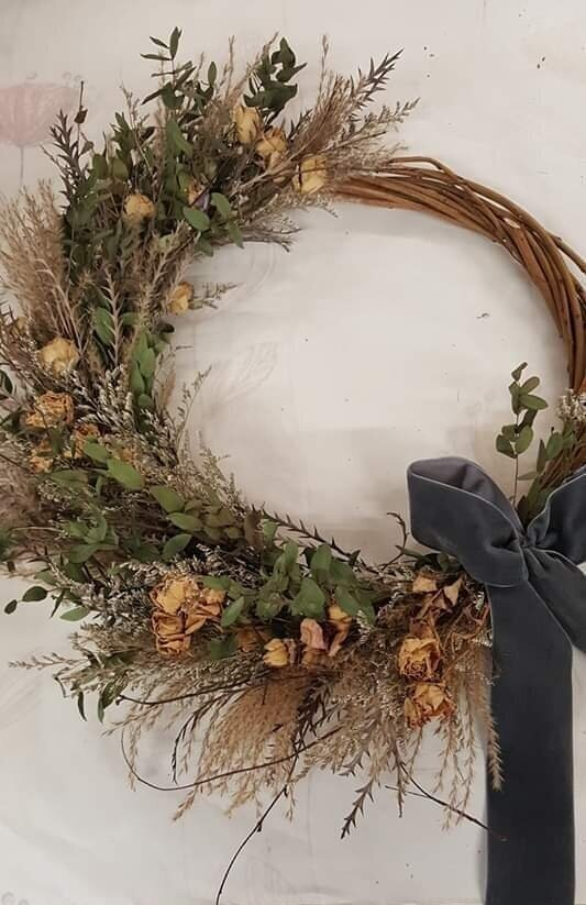 Everlasting Dried Flower Wreath 1st February 2020 S A Floral Design