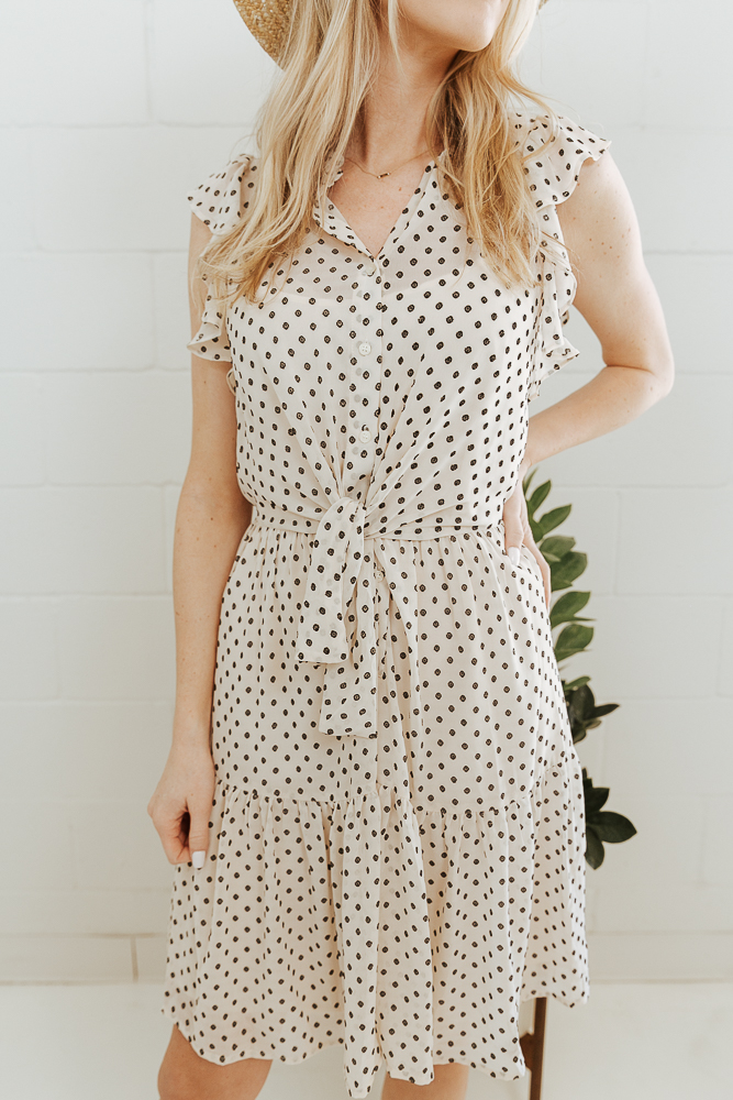 "2.Polka Dots - We are seeing spots, and you will too. Polka dots are finding their way onto jackets, dresses, and jumpsuits alike. Expect to have your very own Cruella de Vil ""seeing spots"" moment without the breakdown and crazy hair situation. Hopefully."