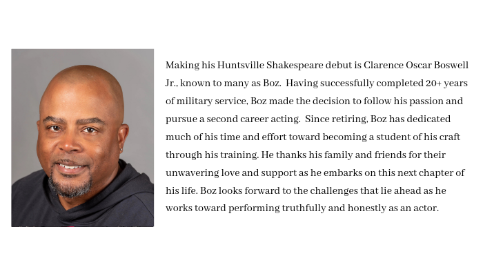 This summer, Chad Thomas plays Prospero in The Tempest and directs Spirits to Enforce. He is co-founder and co-artistic director of Huntsville Shakespeare, as well as an associate professor of English (specializing i-16.png