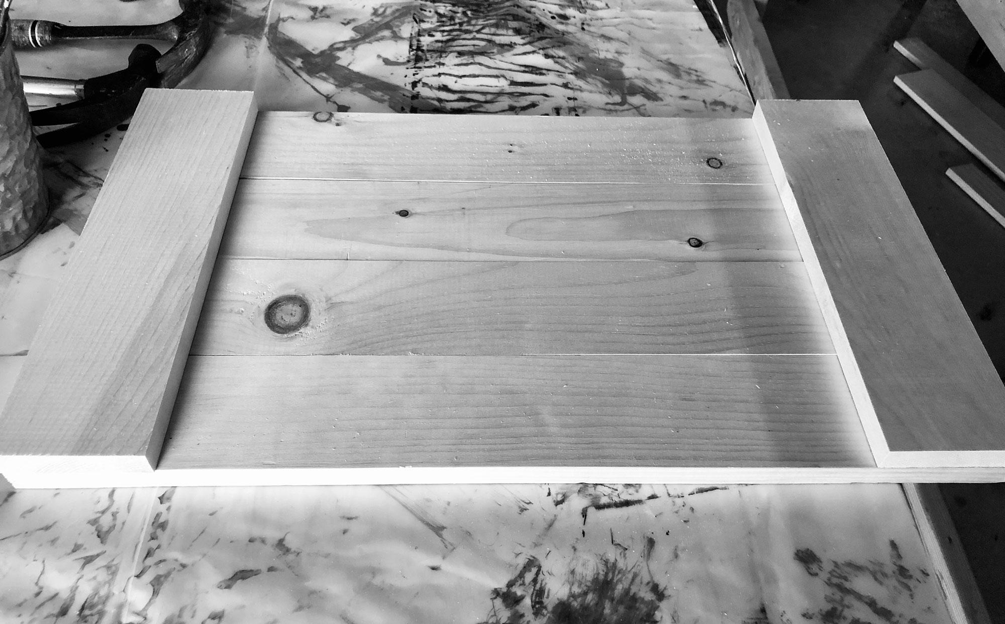 Unsanded DIY wood custom tray