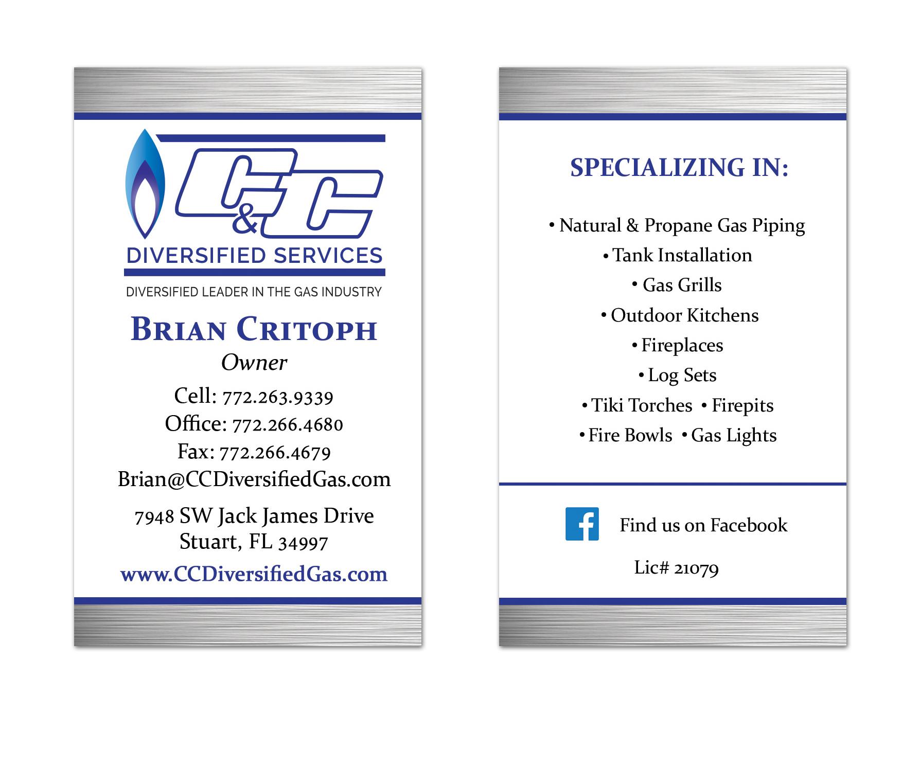 Gas Services Business Card Design