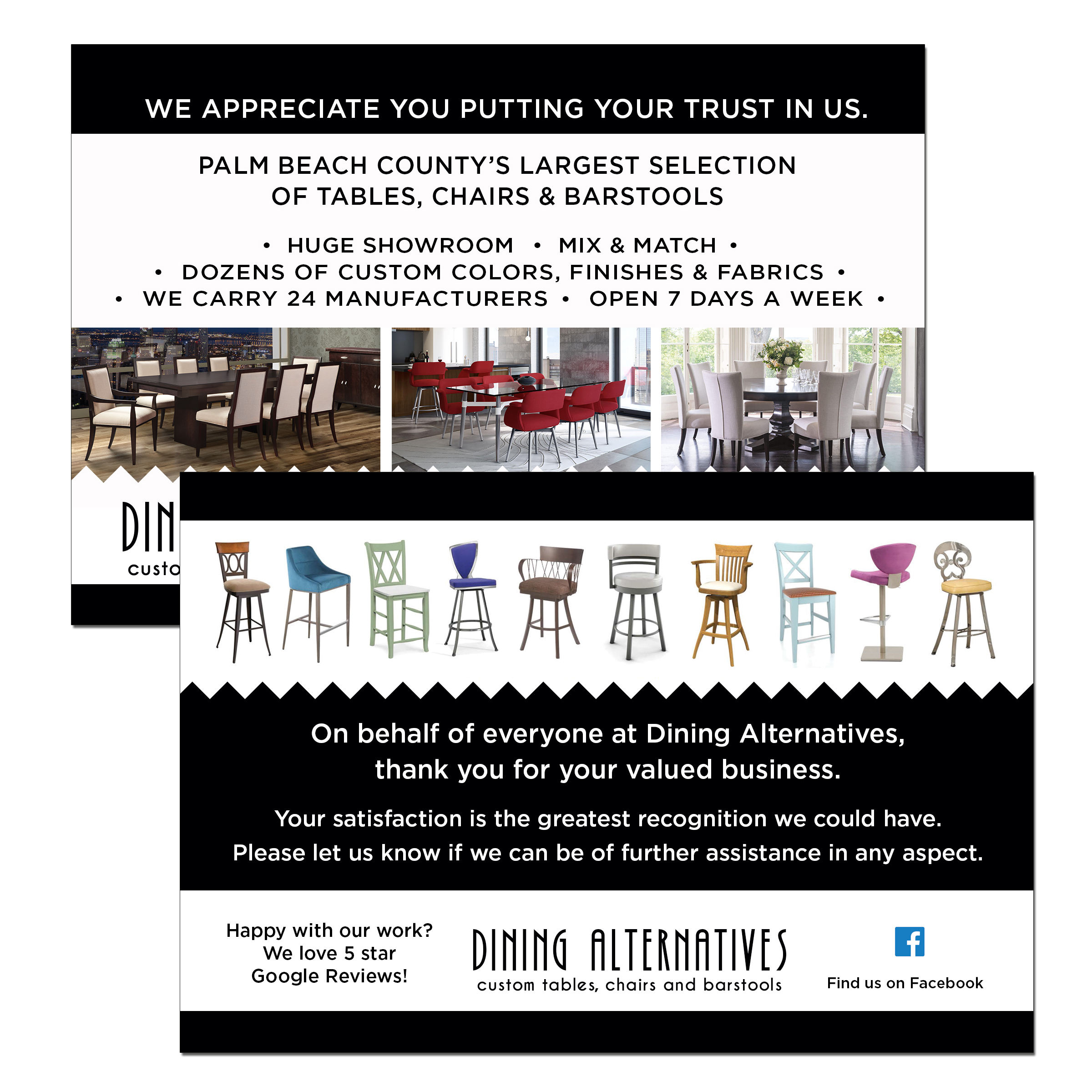 Furniture Store Postcard Design
