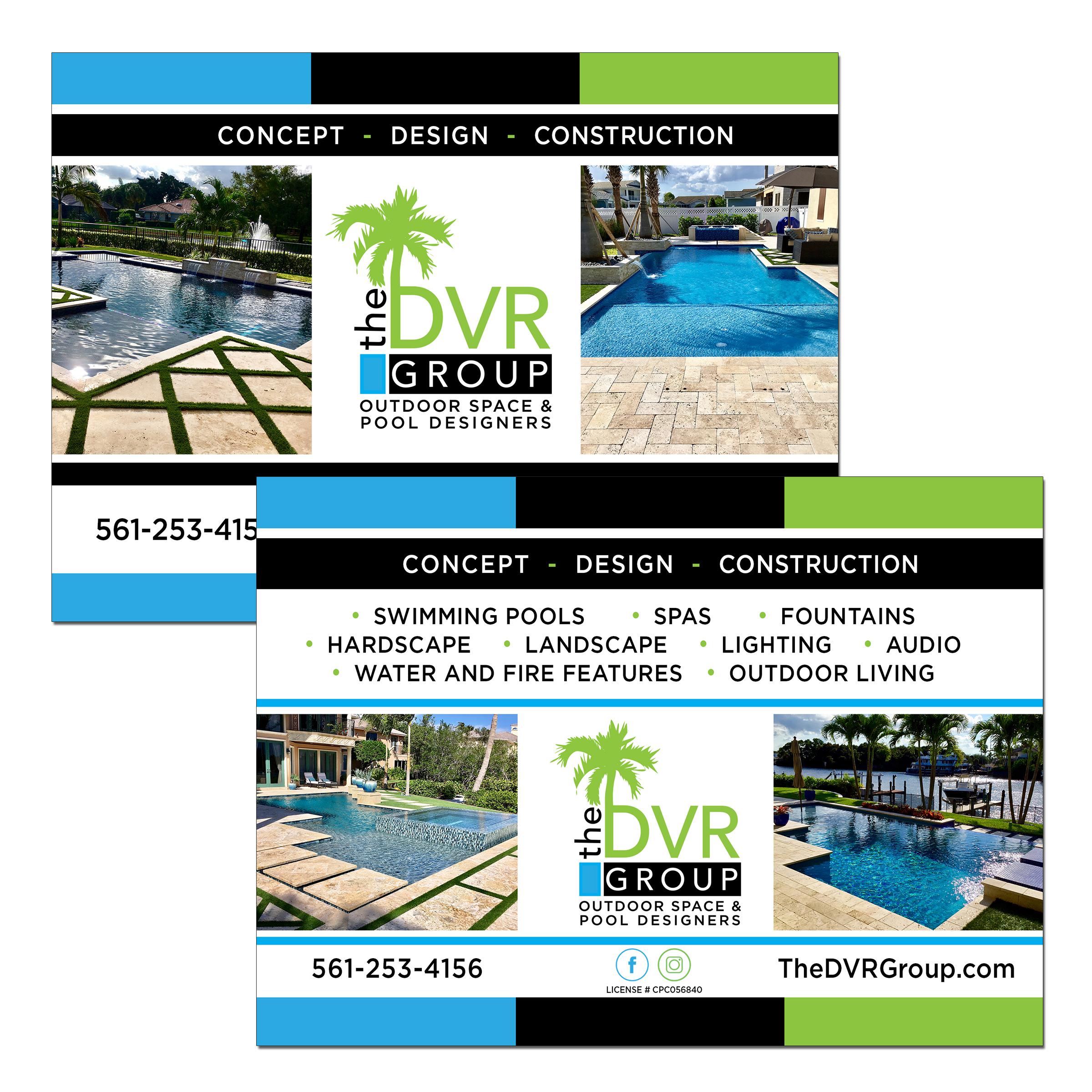 Pool Contractor Postcard Design