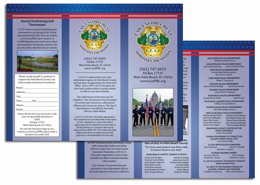 Law Enforcement Foundation Trifold Brochure Design