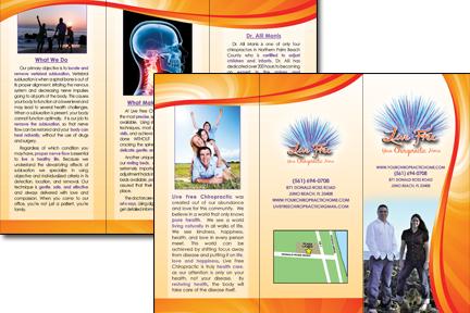Chiropractic Trifold Brochure Design