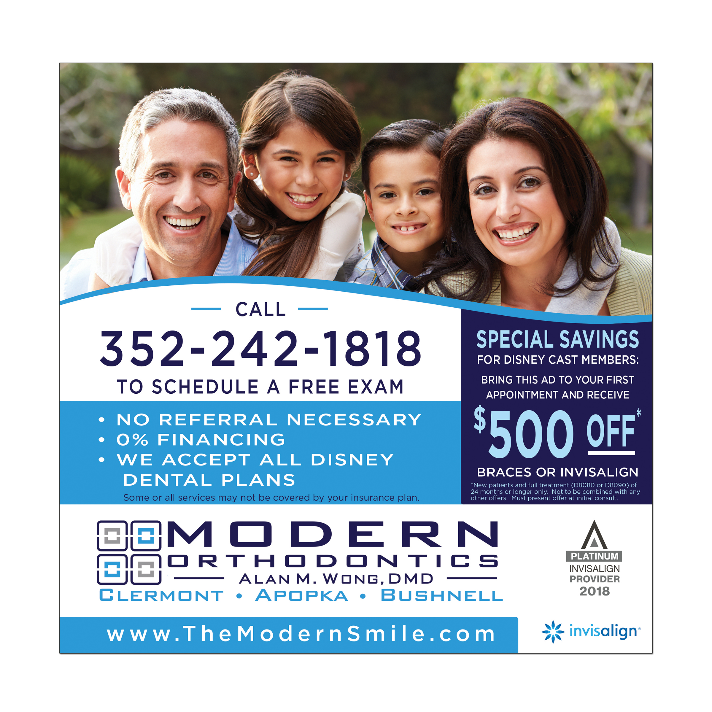 Print Ad Design for an Orthodontist