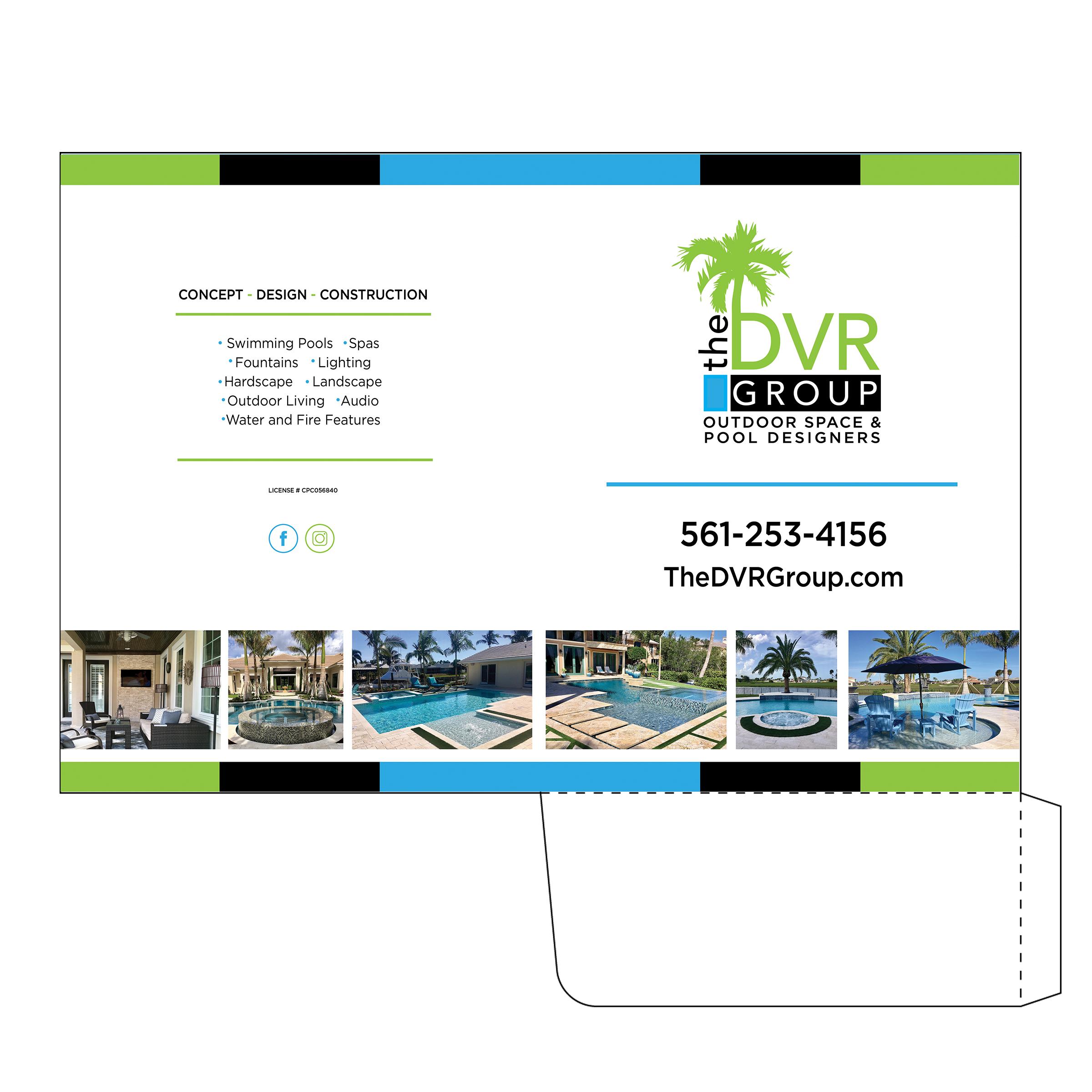 Pool Construction Company Folder Design