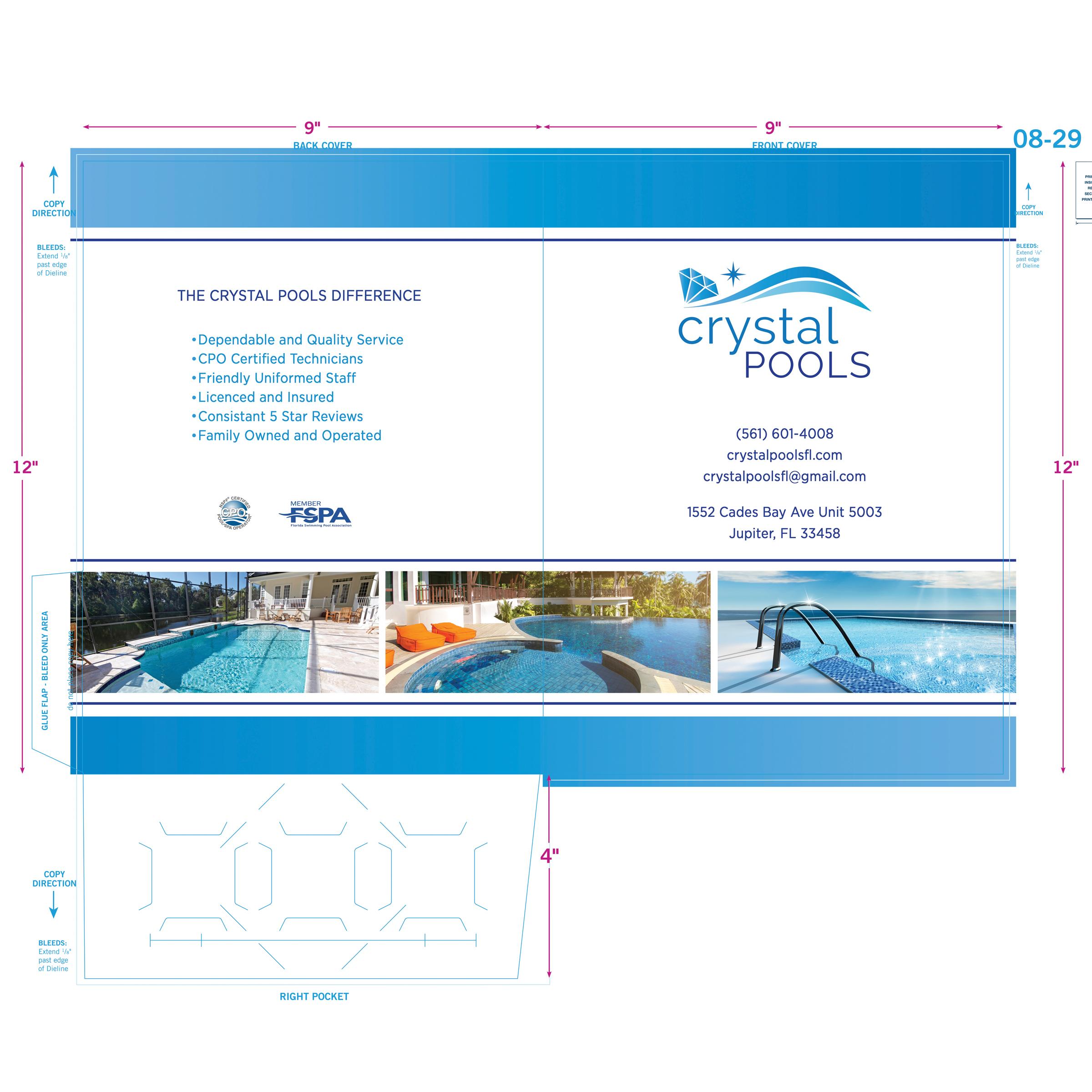 Pool Service Company Folder Design