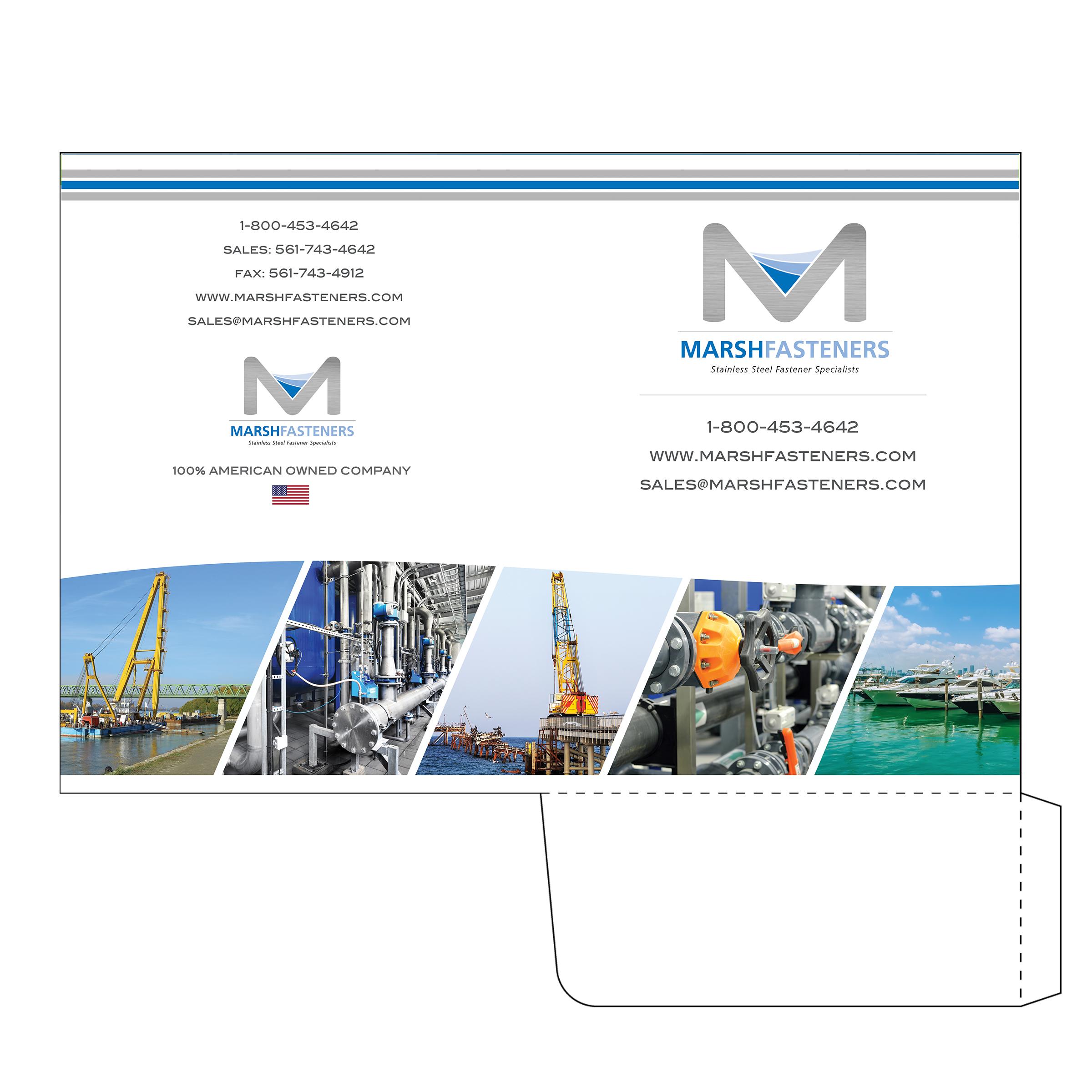 Marine Supply Company Folder Design