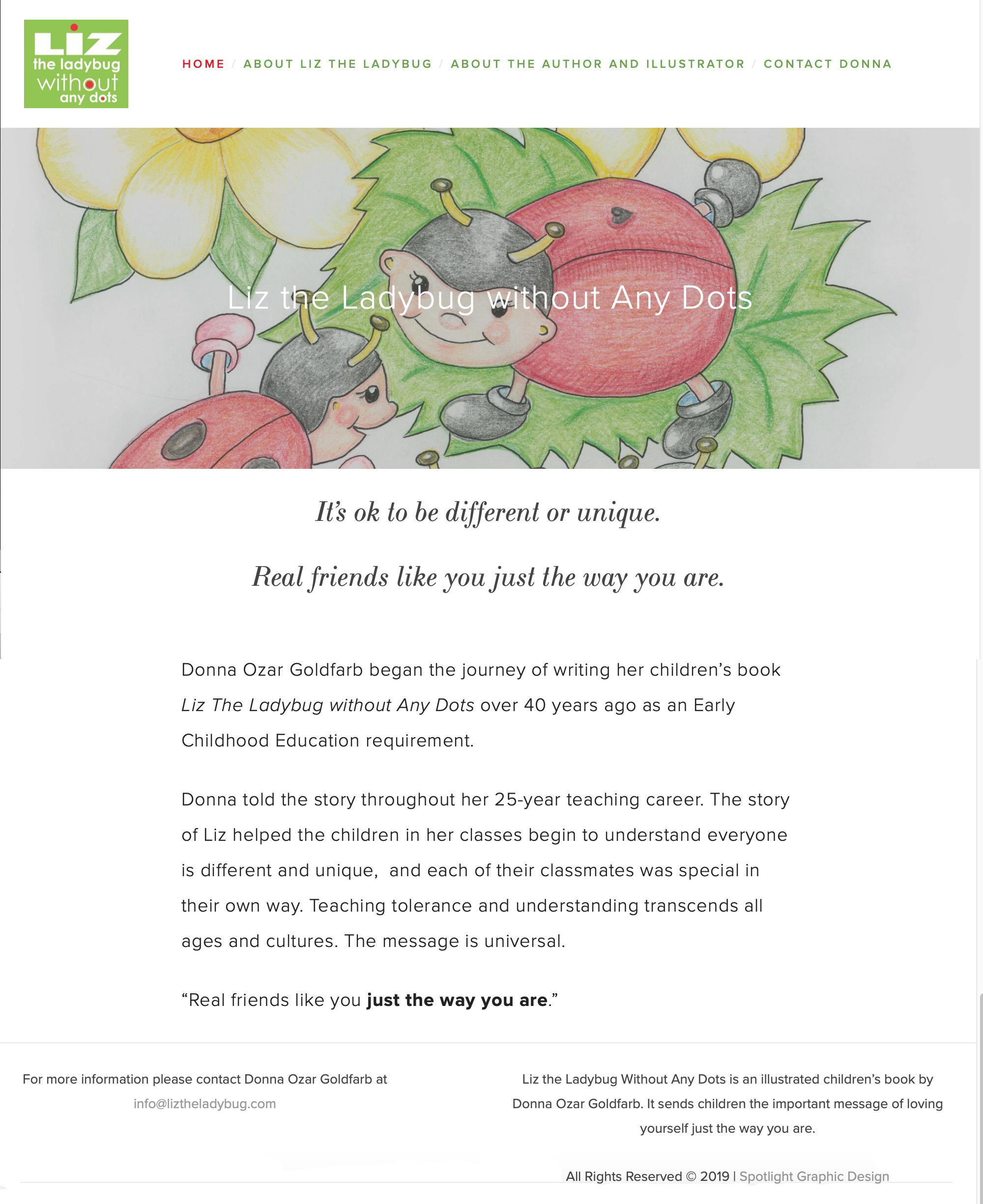 Childrens' Author Website Design