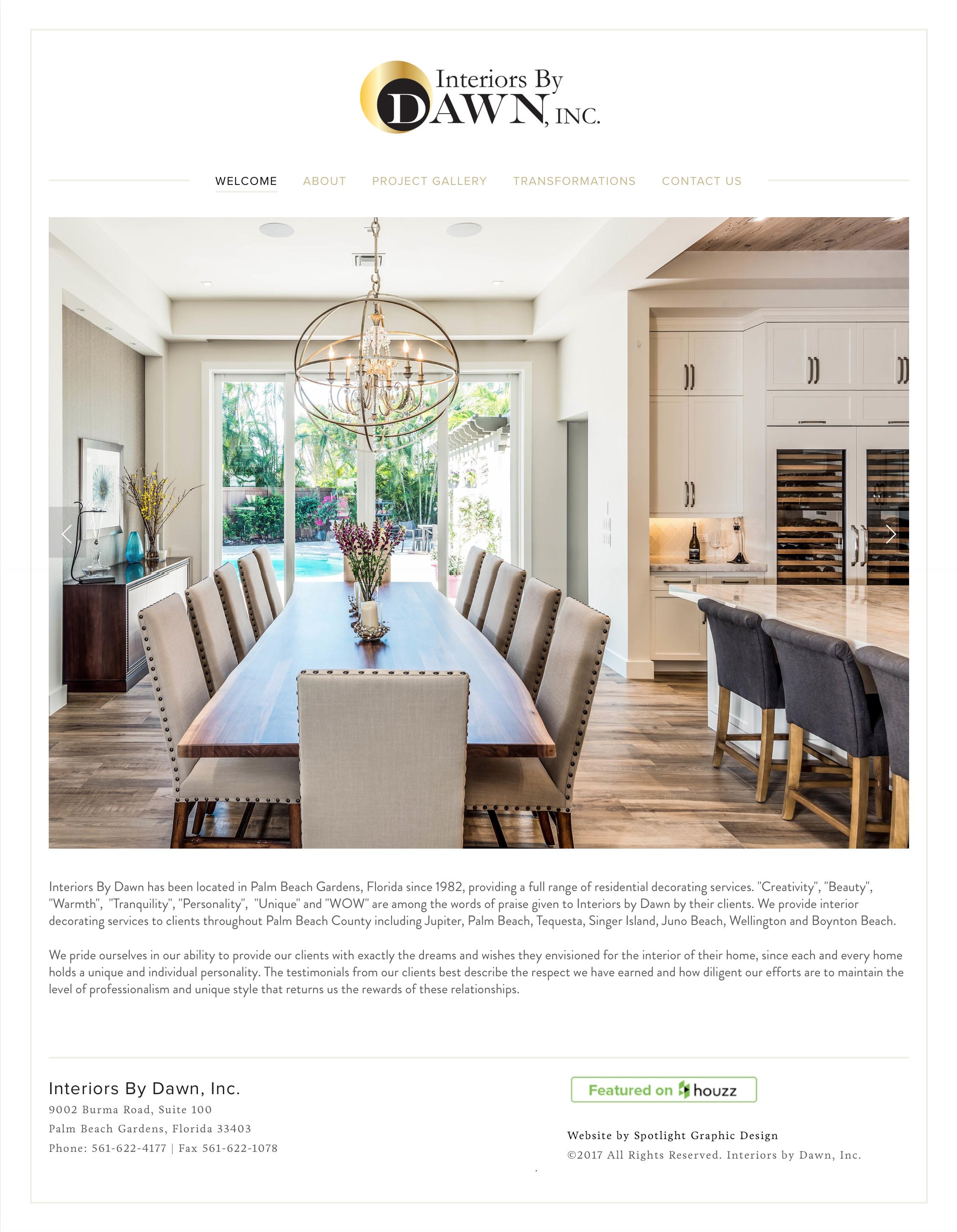 Interior Decorator Website Design