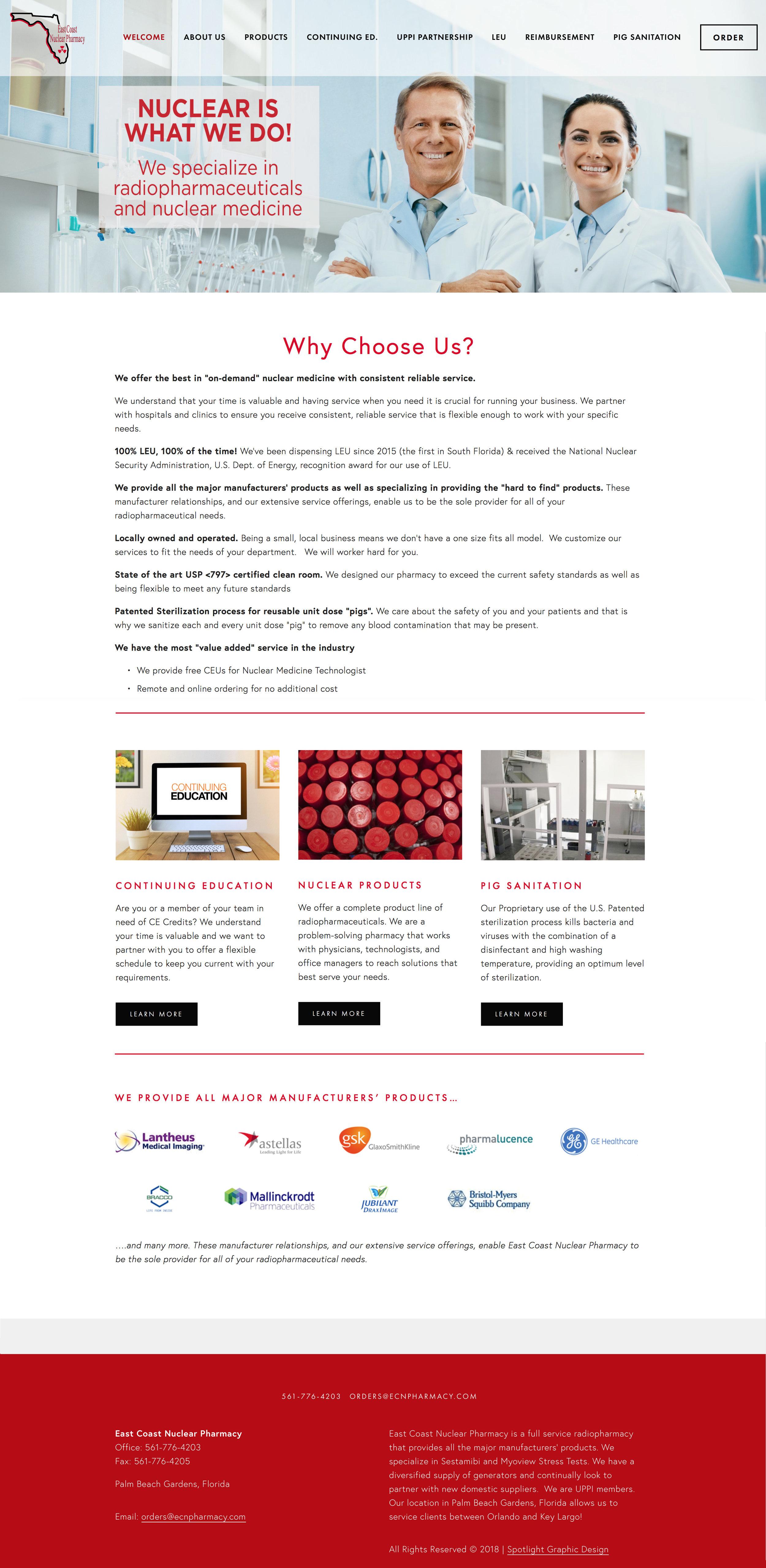 Pharmacy Website Design