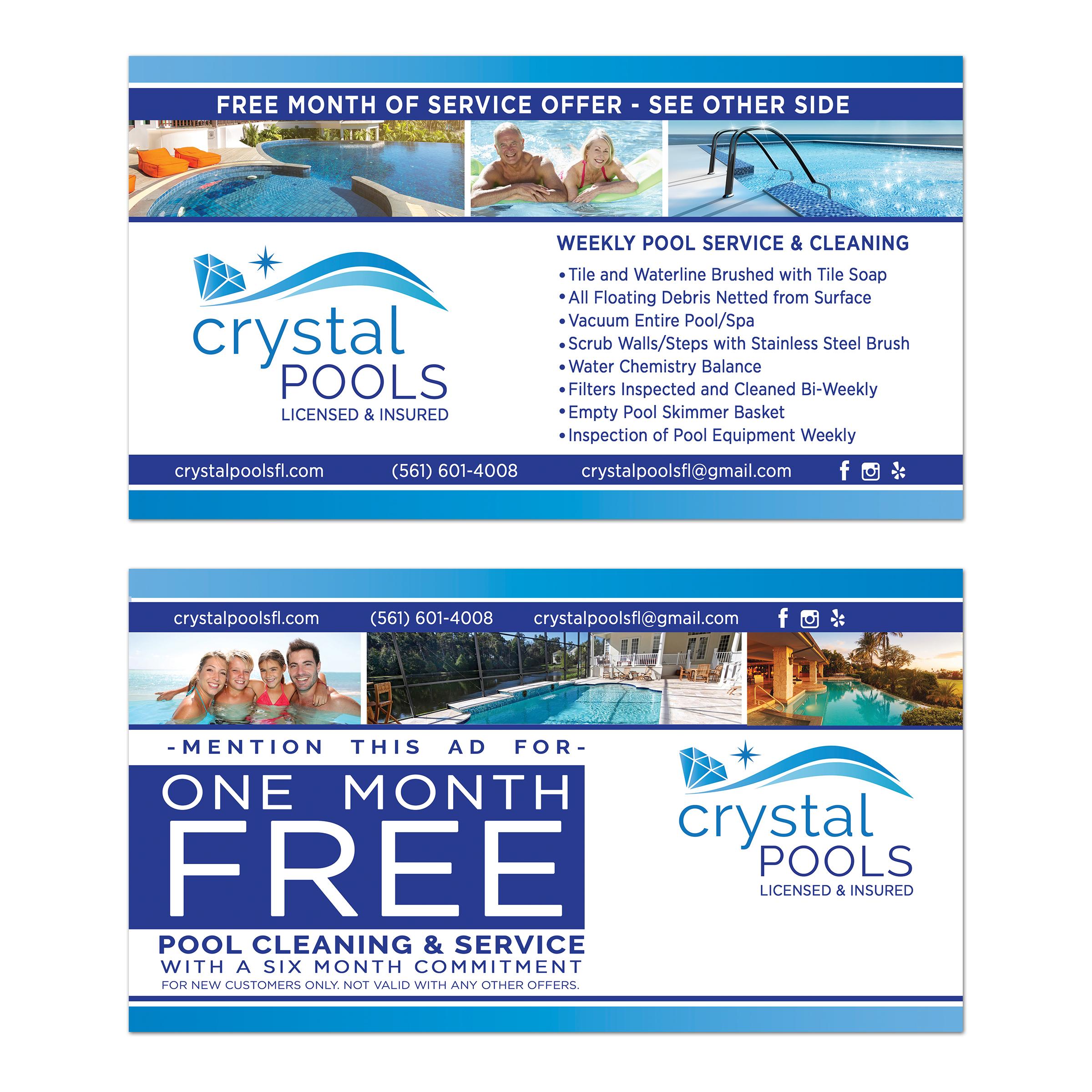 Crystal Pools Postcard Design