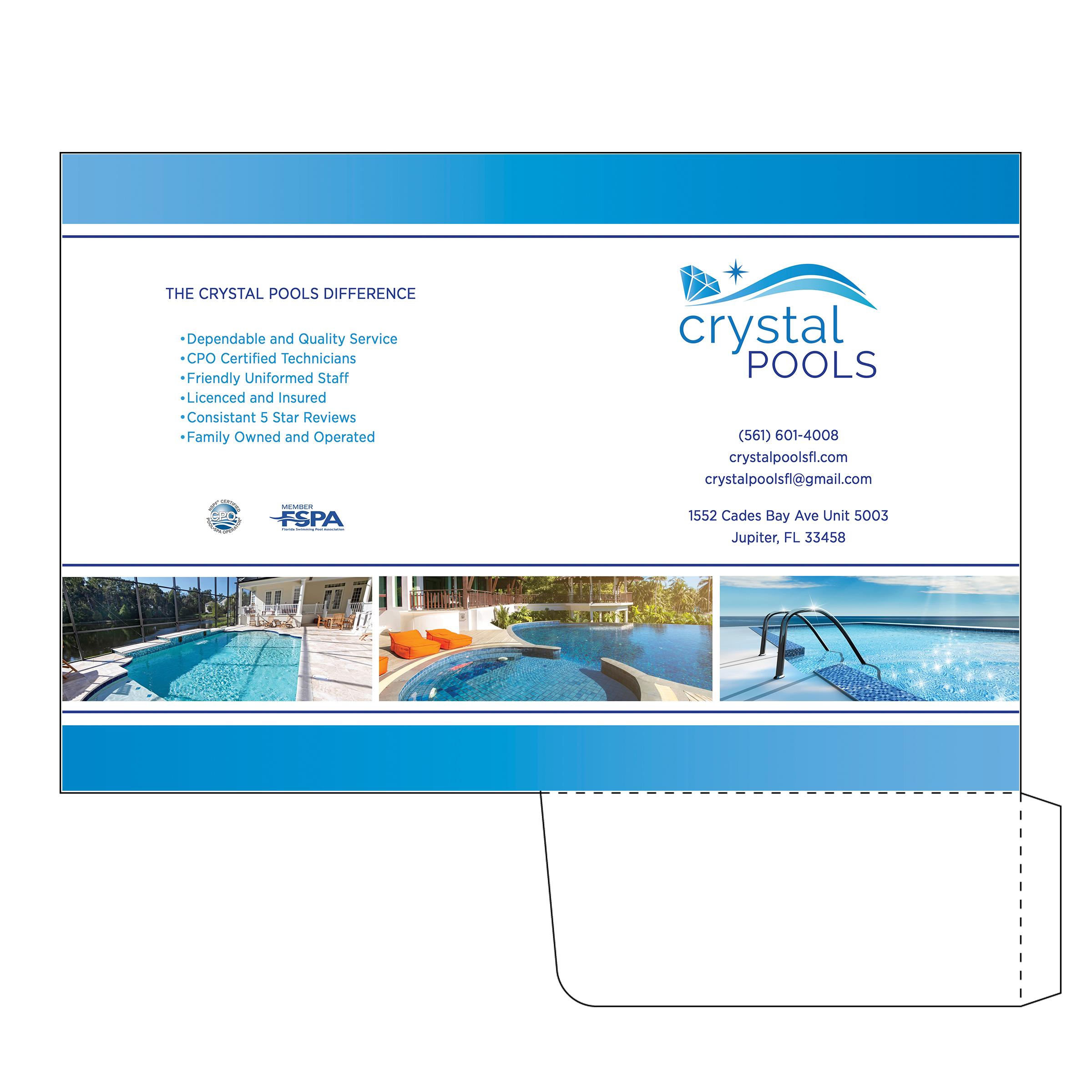 Crystal Pools Folder Design
