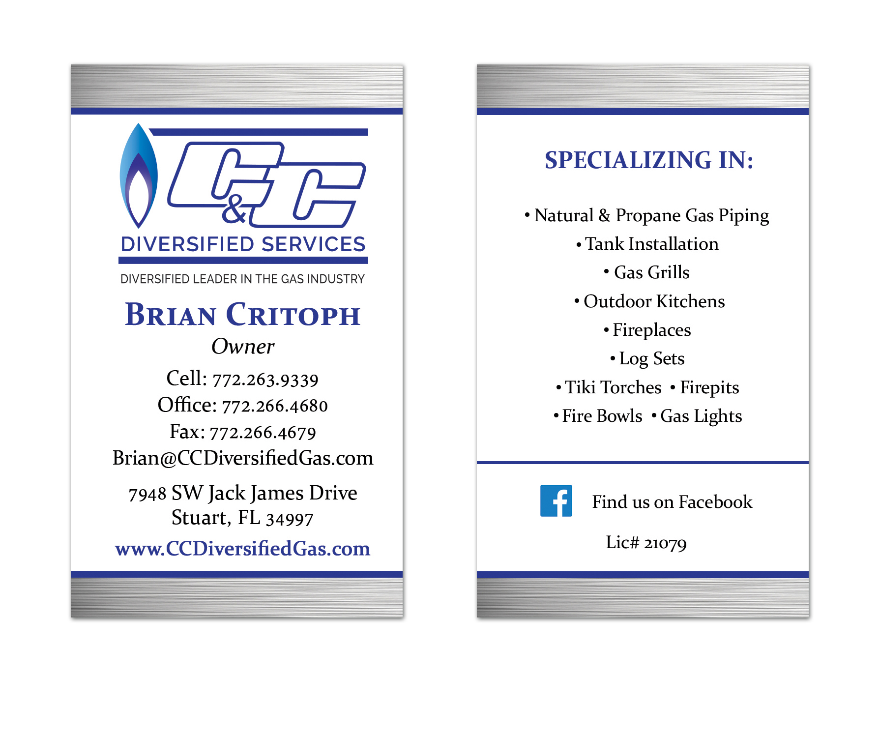 C & C Diversified Services Business Card Design
