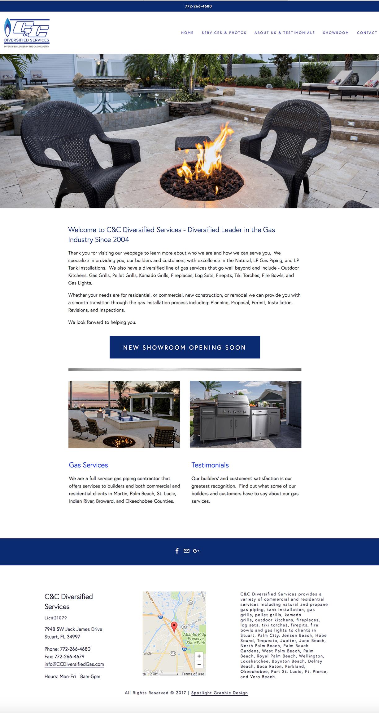 C & C Diversified Services Website Design