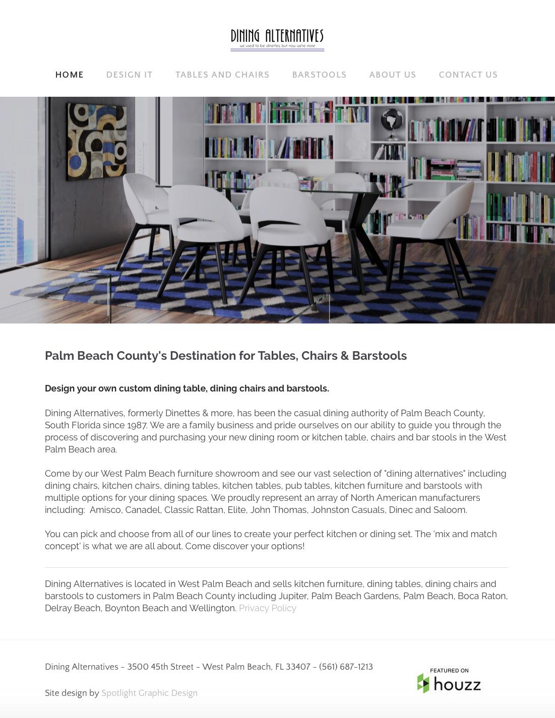 Dining Alternatives Website Design