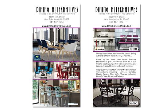Dining Alternatives Rack Card Design