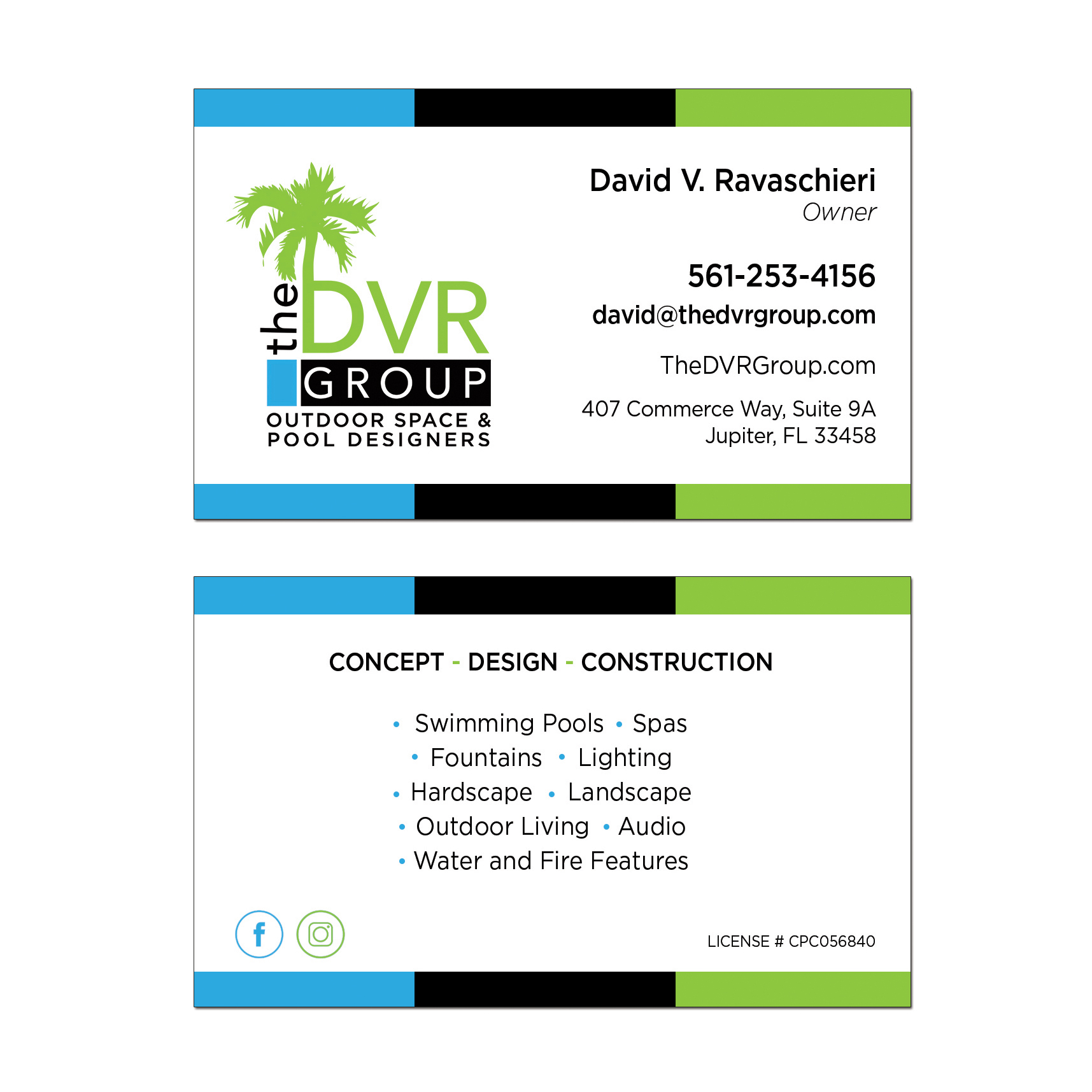The DVR Group Business Card Design