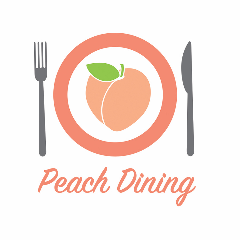 Peach Dining App Logo Design in Atlanta, GA