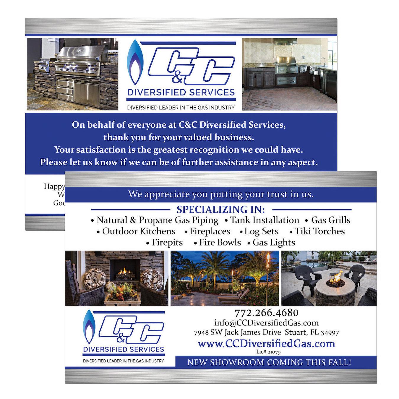 C & C Diversified Services Postcard Design