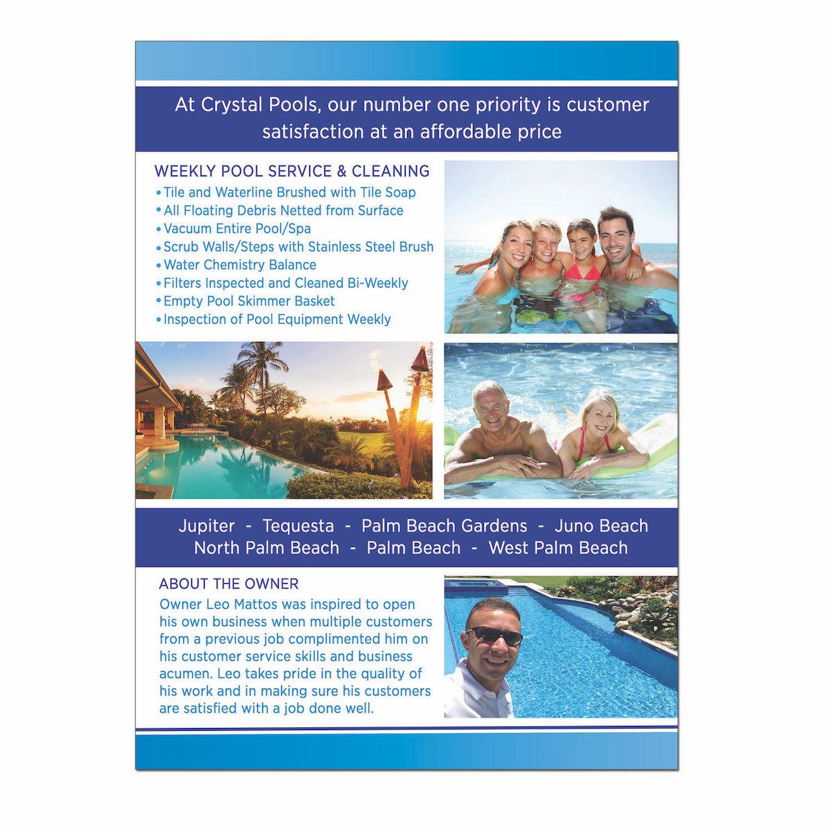 Crystal Pools Flyer Design