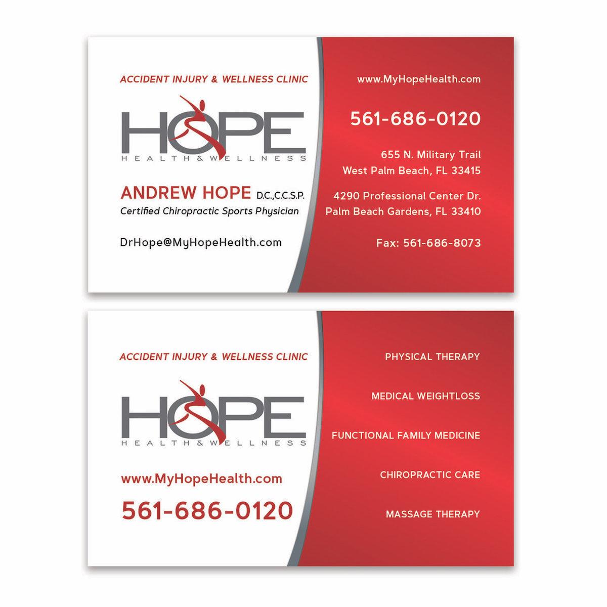 Chiropractor Business Card Design - West Palm Beach