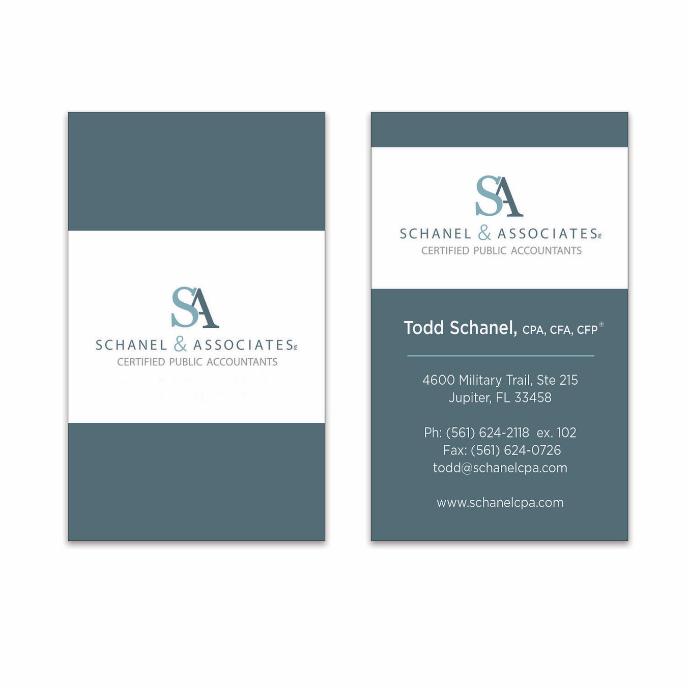 Accounting Firm Business Card Design in Jupiter