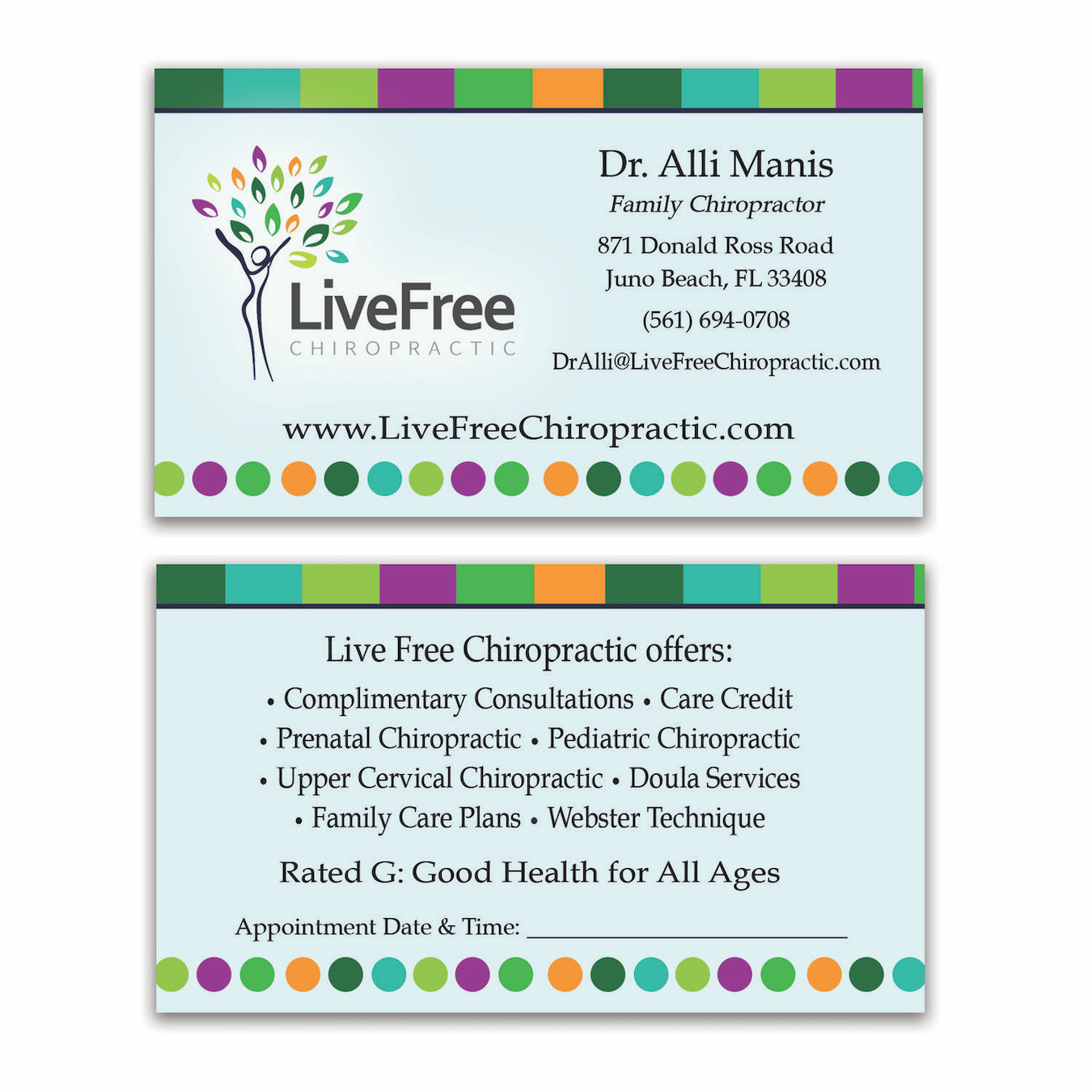 Chiropractor Business Card Design