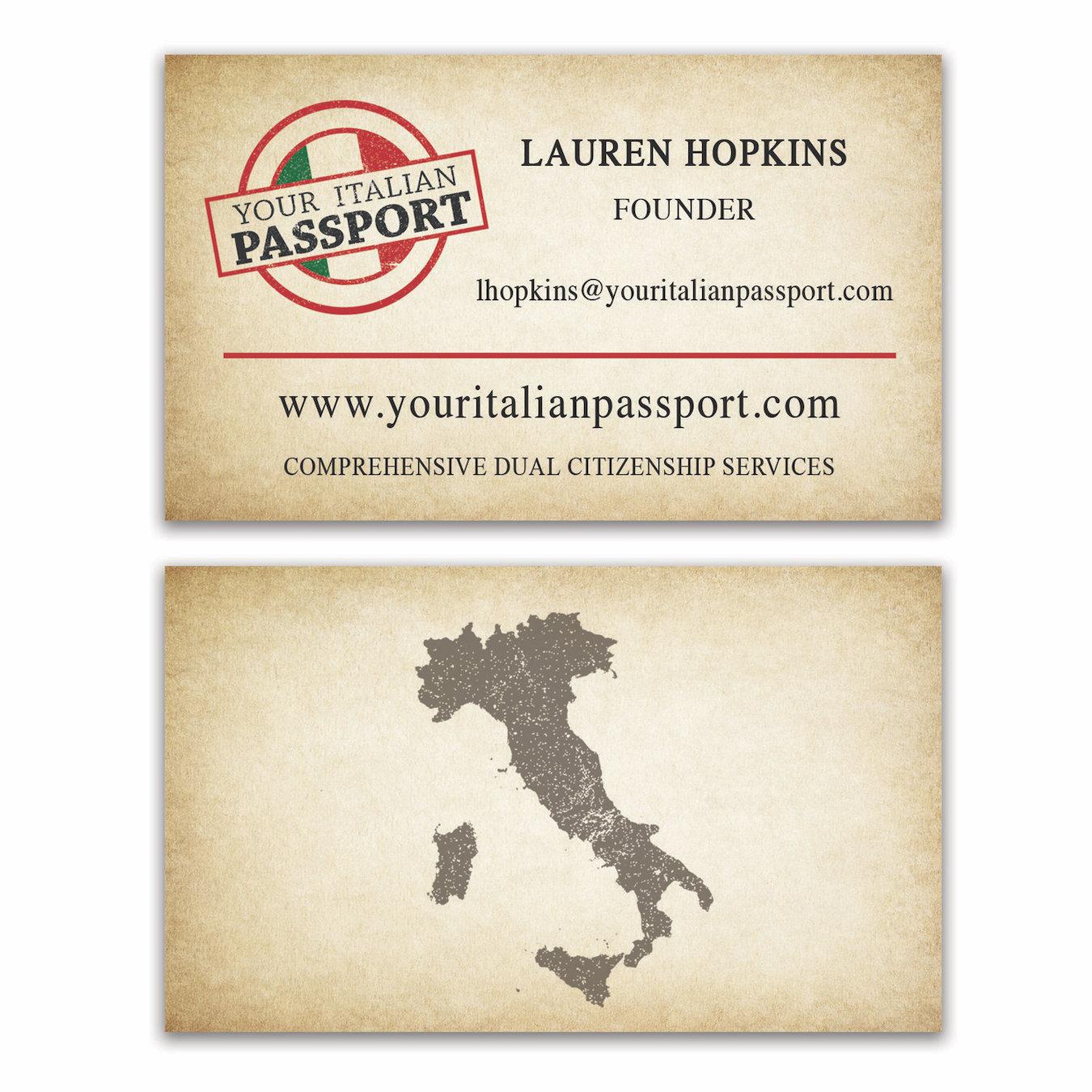 International Law Firm Business Card