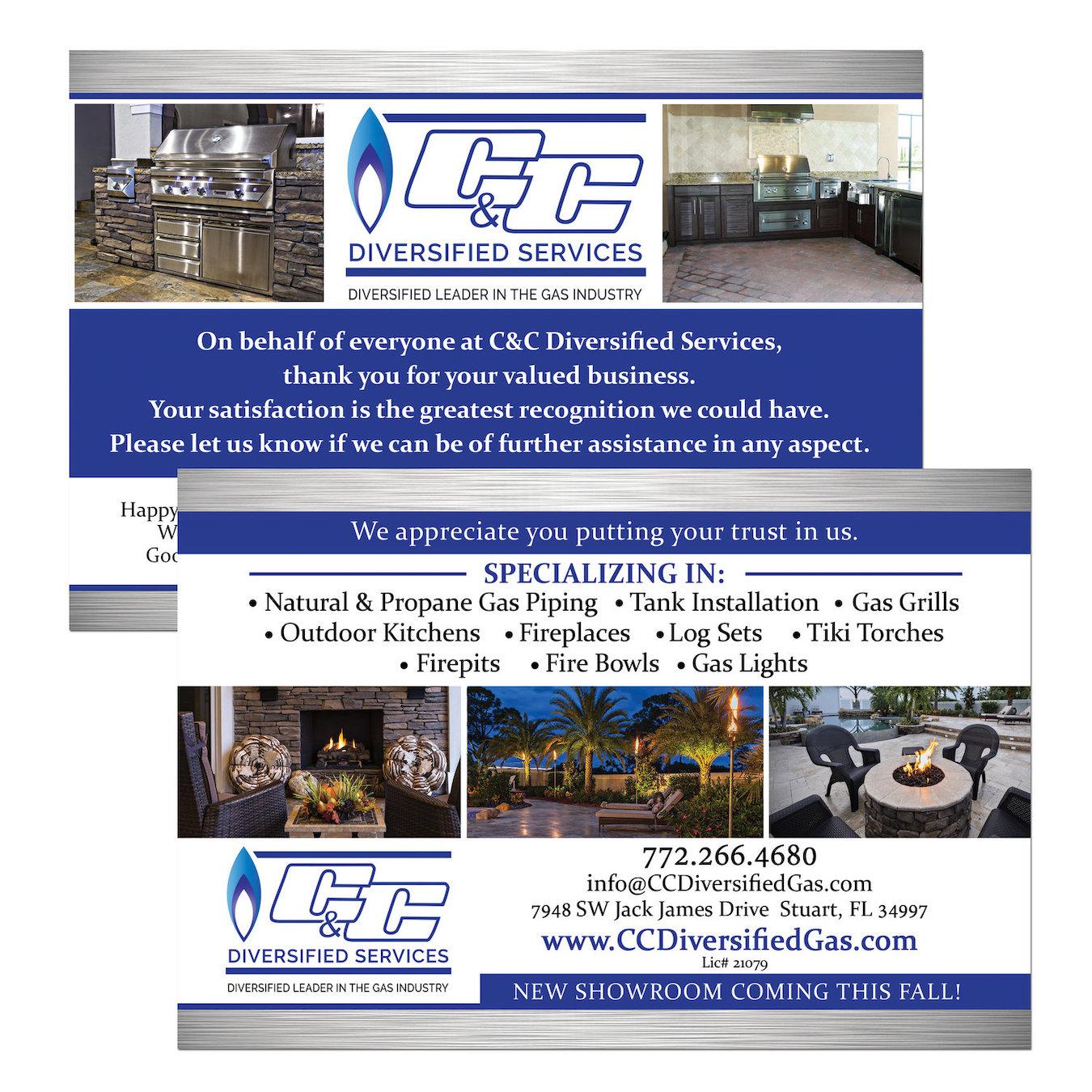 Gas Services Postcard Design - Stuart