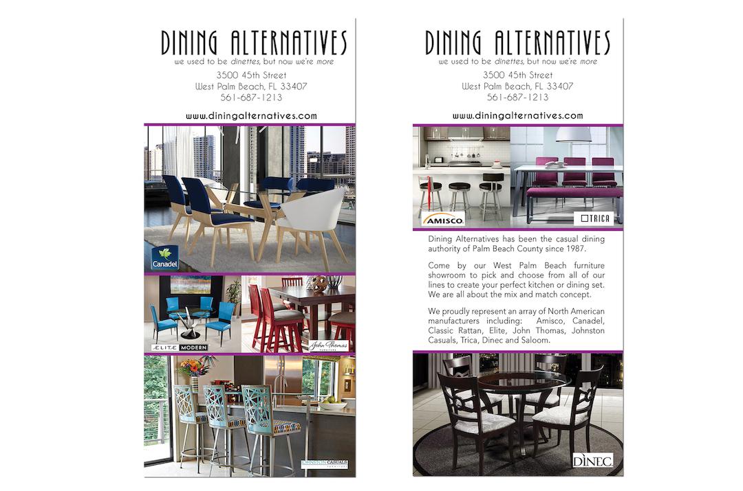 Furniture Store Rack Card Design - West Palm Beach