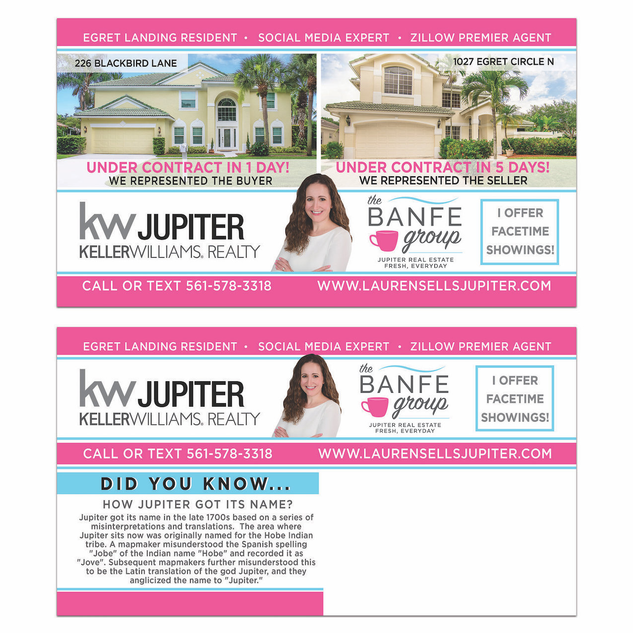 Real Estate Postcard Design- Jupiter