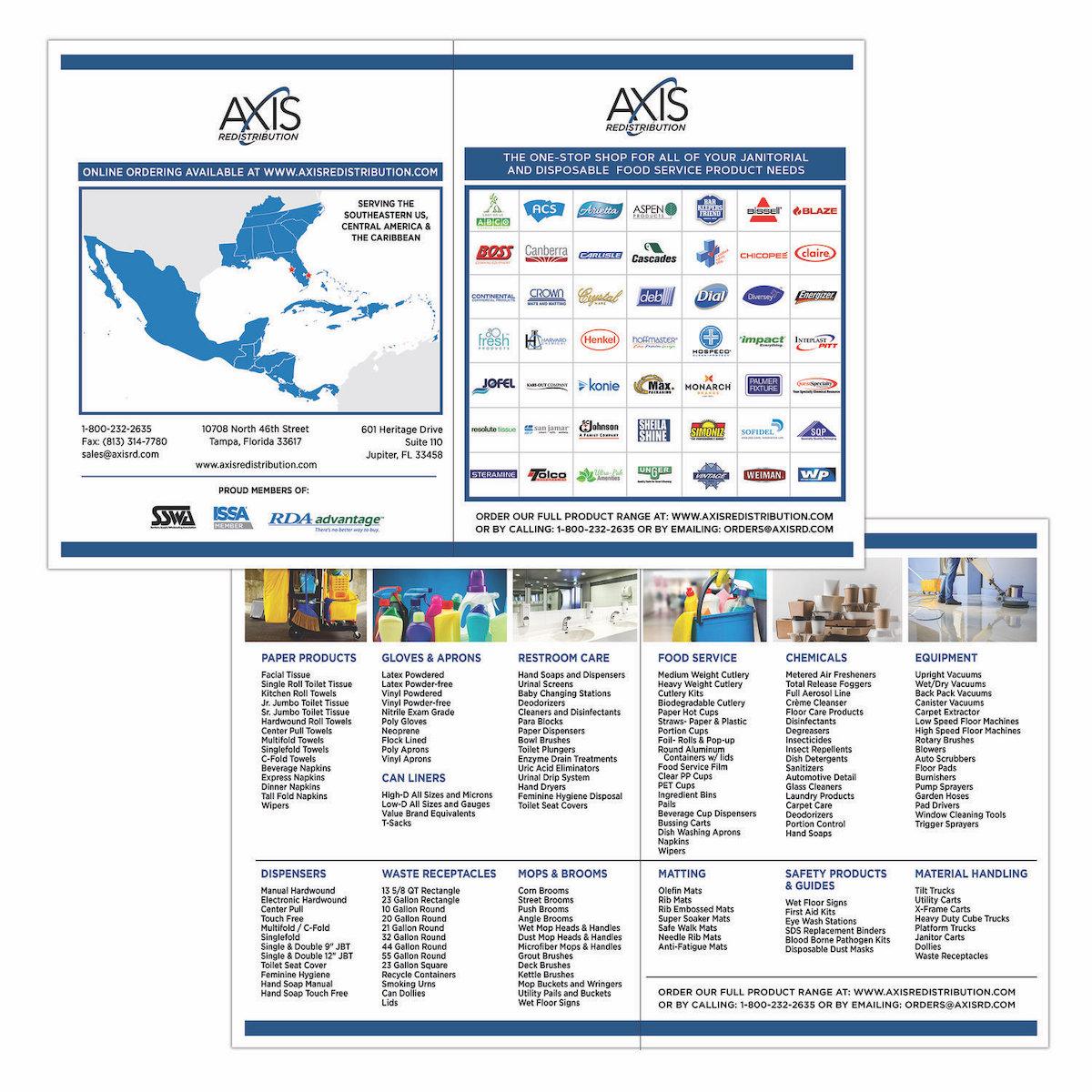 Bi-fold Brochure designed for a Redistribution Company - Tampa