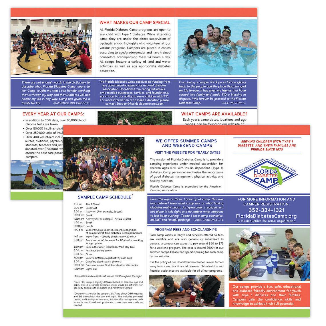 Camp Trifold Brochure Design - Gainesville, FL