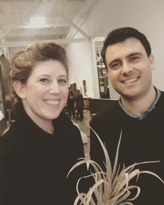 Farber Art Services is out hanging with Zeterre: Thinking outside the box, for the Designer Showcase Preview at DZINE. #DZINE #zeterre #yukokubrick #wescover #cahomeanddesign #farberartservices #homecuration