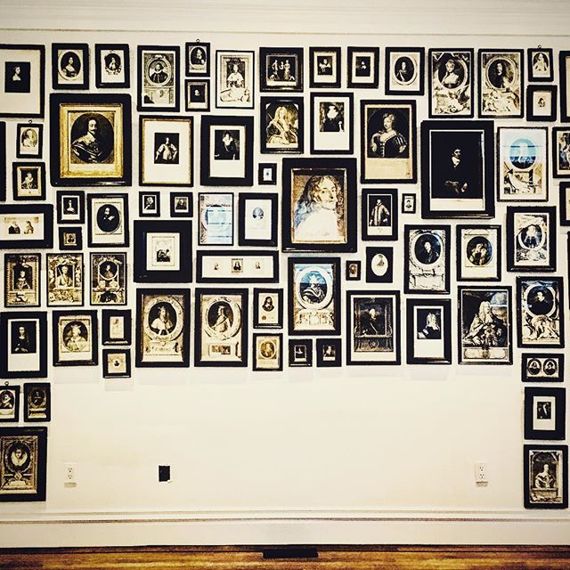 """""""Enlightenment"""" is a recent installation comprised of 18th and 19th Century history. This time capsule, tells a story about leaders in an era of Enlightenment & social change. What change do you want to see in our world? Let your art help you manifest it! Send us a message through our website so we can assist you! #farberartservices #artinstillation #storywall #enlightenment #historic #homecuration #picturehanging #wellhungart"""