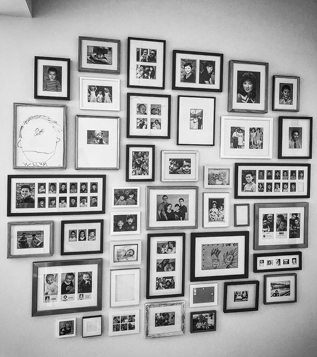"""All In The Genes"" is our recent family history wall. Being a family business these designs are really special for us to create. We would love to assist you in turning your blank wall, into the story of YOU! Let us know how we can help. #farberartservices #artinstallation #storywall #homecuration #picturehanging #wellhungart #allinthegenes #familystory"