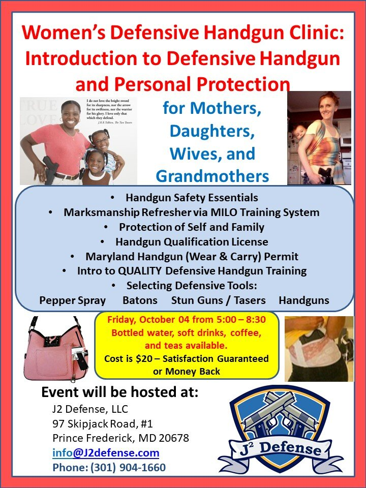 Women's Only Defensive Handgun Introductory Seminar & Clinic - Friday October 04.jpg