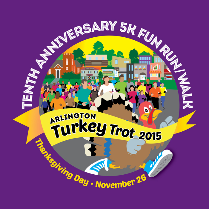 2014 Arlington Turkey Trot T-shirt design
