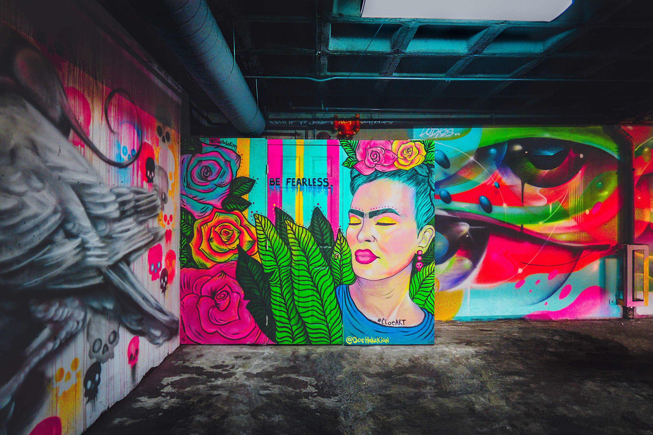 Colorful artwork on a wall