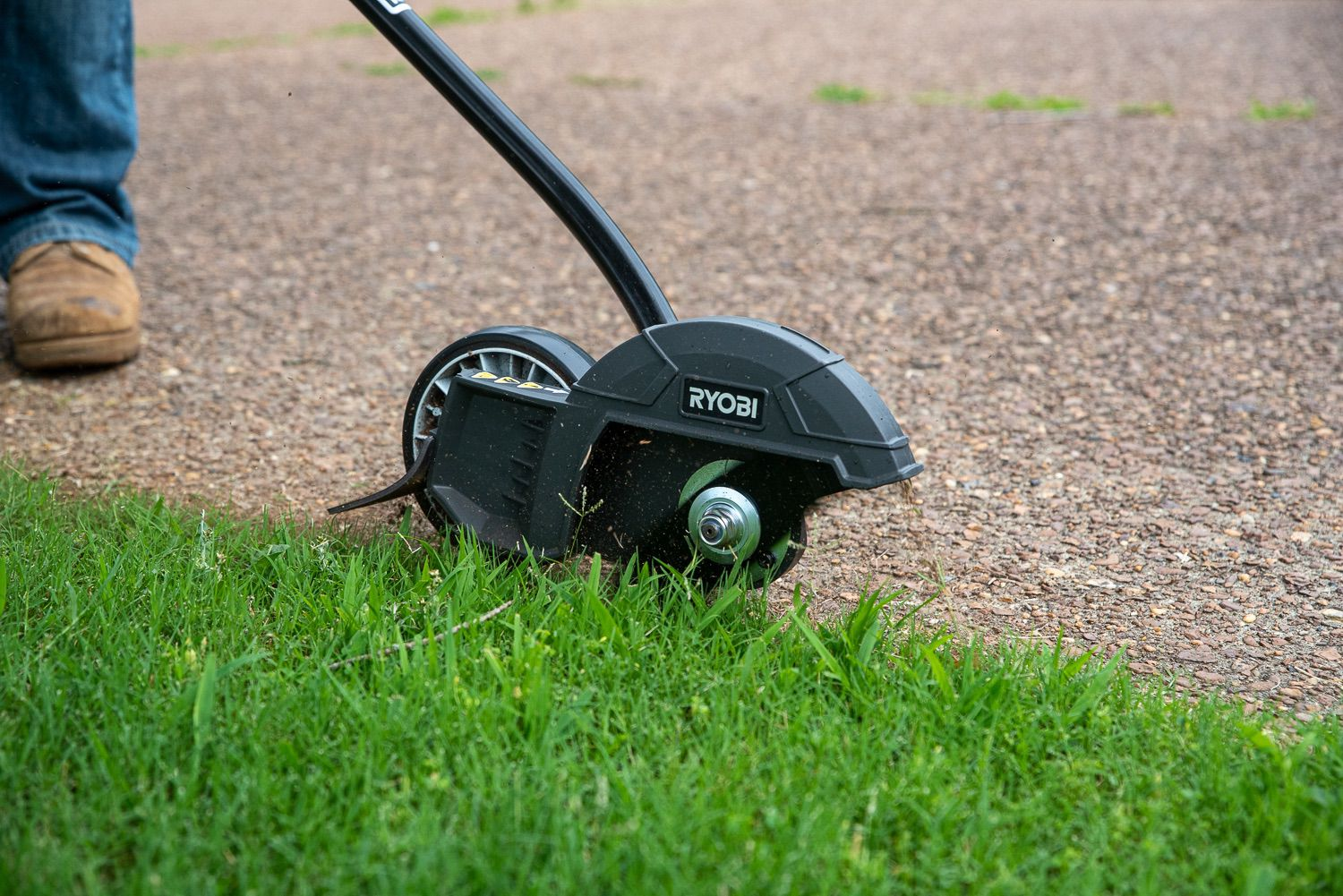 """Ryobi Expand-It 8"""" Edger in use along my driveway"""