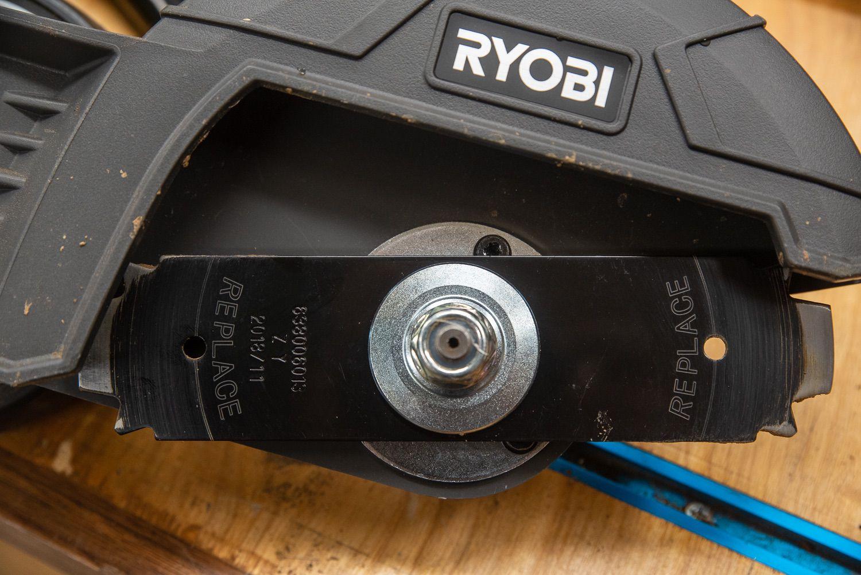 "Ryobi Expand-It 8"" Edger blade witness holes"