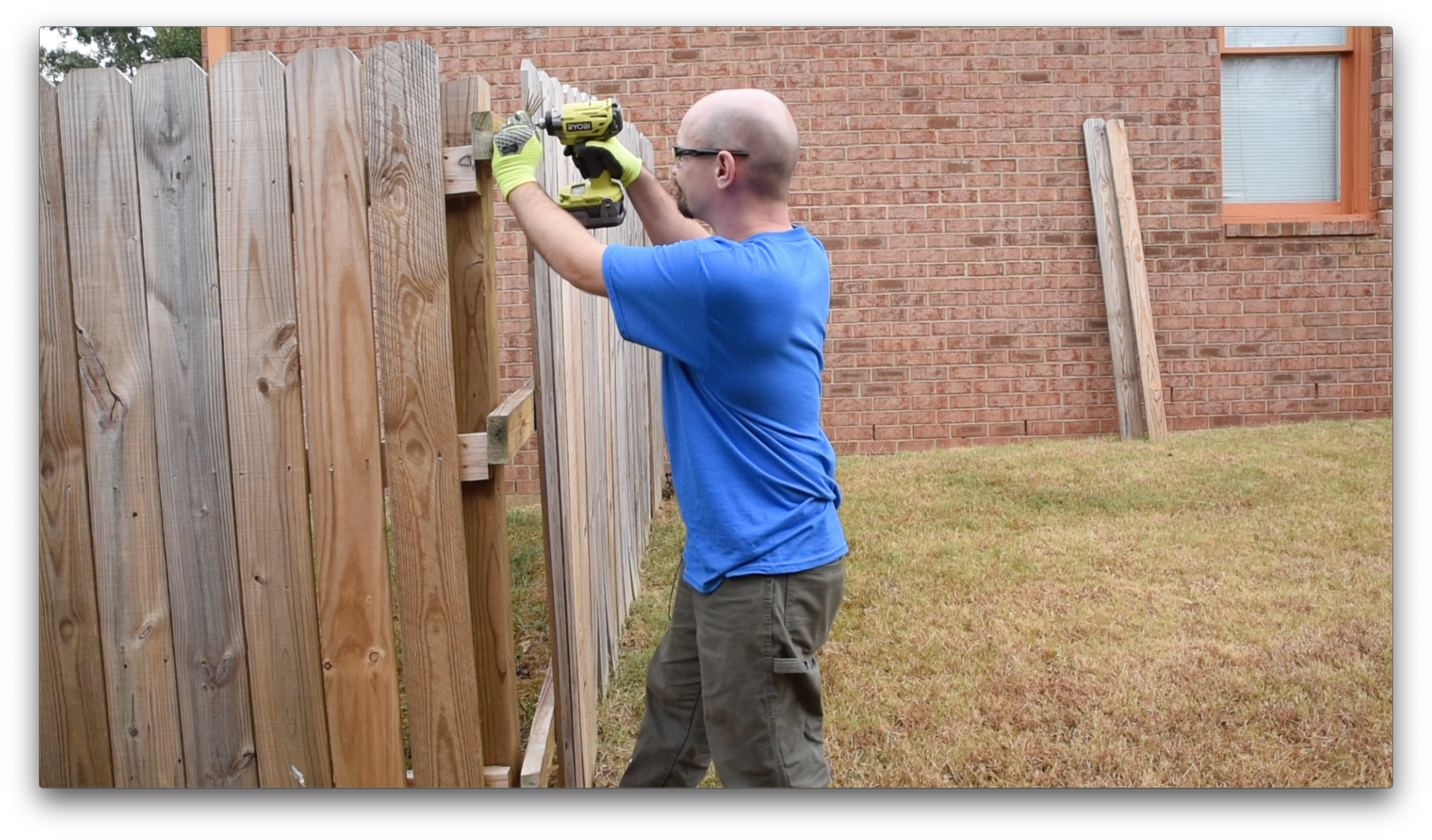 Removing the fence panels with the Ryobi One+ Impact Driver