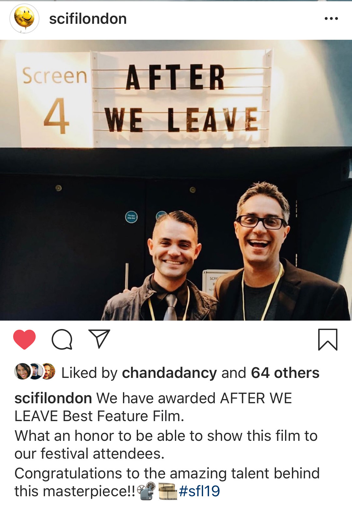 WinneR! - BEST FEATURE FILMSci Fi London 2019 - World Premiere